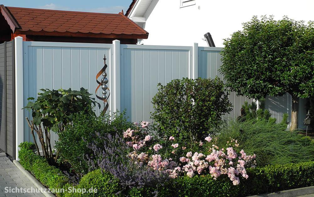Sichtschutz Kunststoff weiß #sichtschutz #zaun ©Sich...