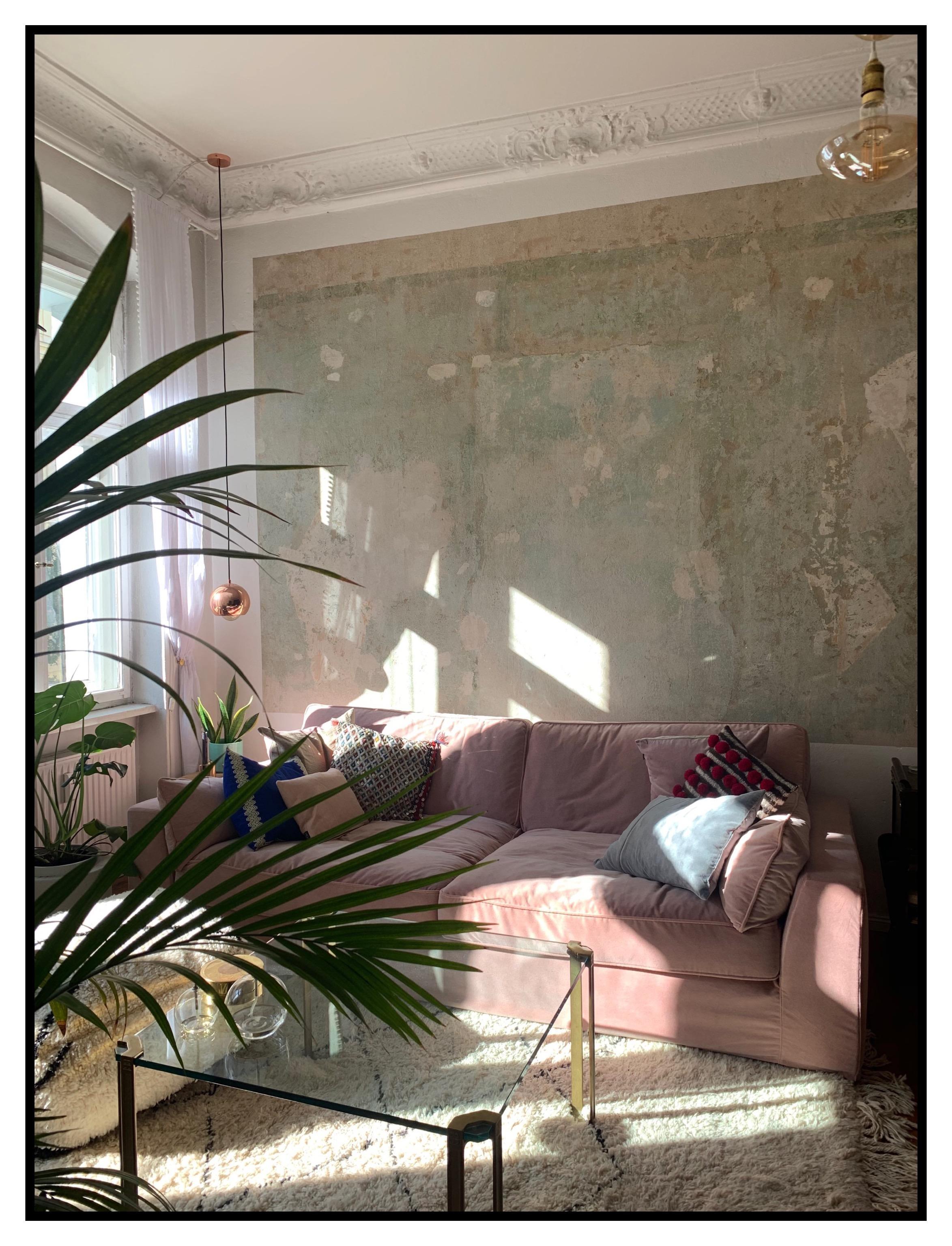 wohnzimmer in rosa