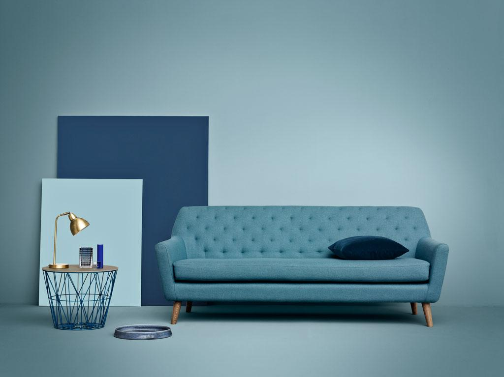 "Sofa ""Sally"" #retro #sofa #blauessofa ©SofaCompany"