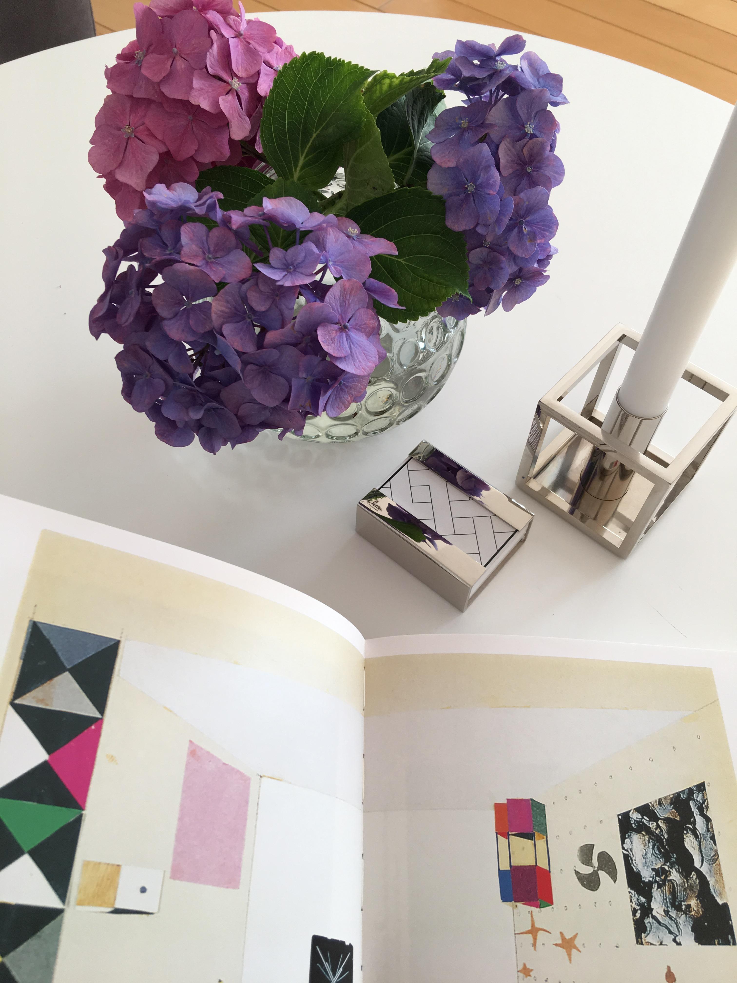 Sommerblumen Hortensien Vase Tischdeko Livingro