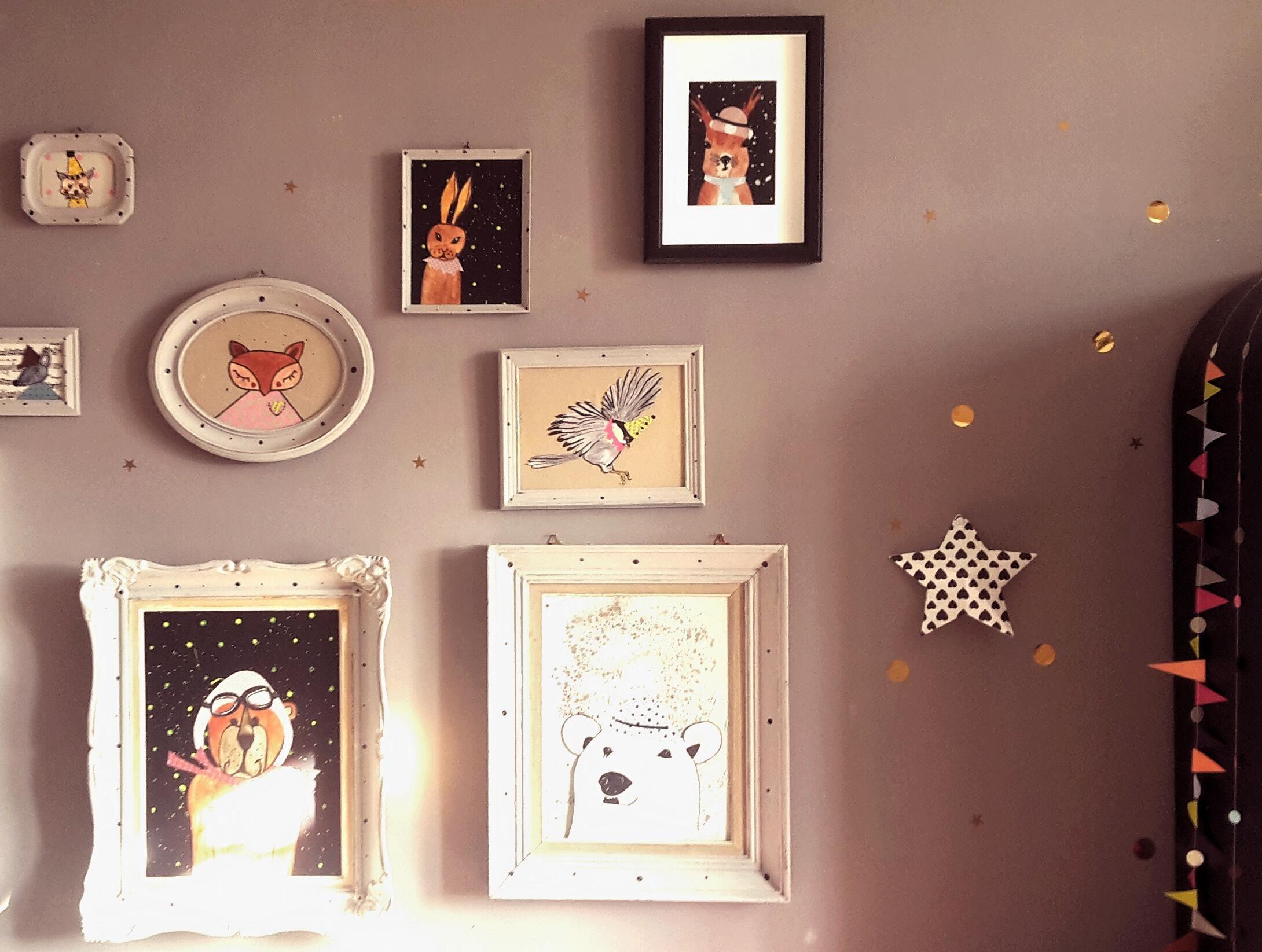 Bilderrahmen Kinderzimmer   Sonnenstrahlen Im Kinderzimmer Bilderrahmen Tier