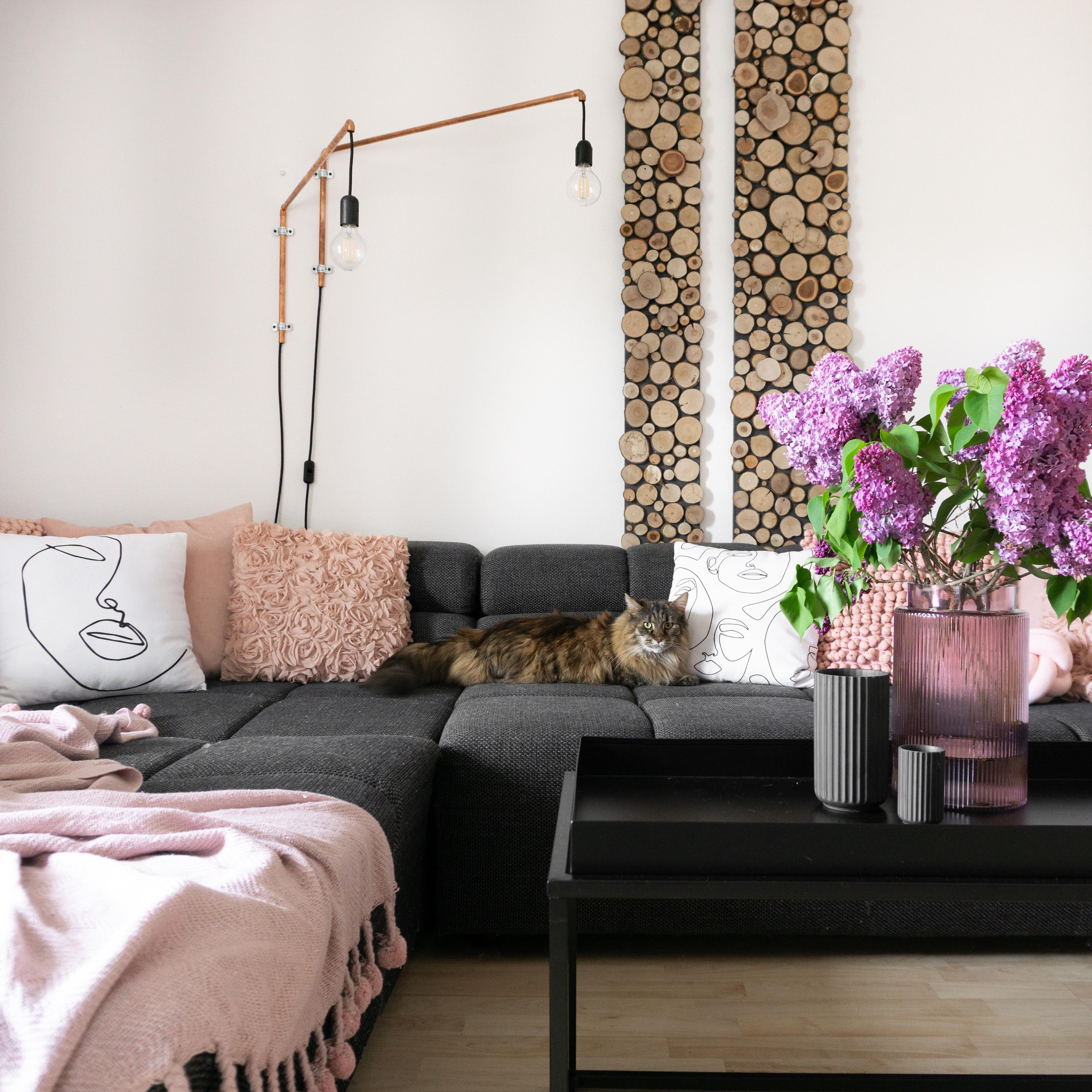 sonntag ist couchtag couch wohnzimmer wohnkonfetti doityourself diy katze