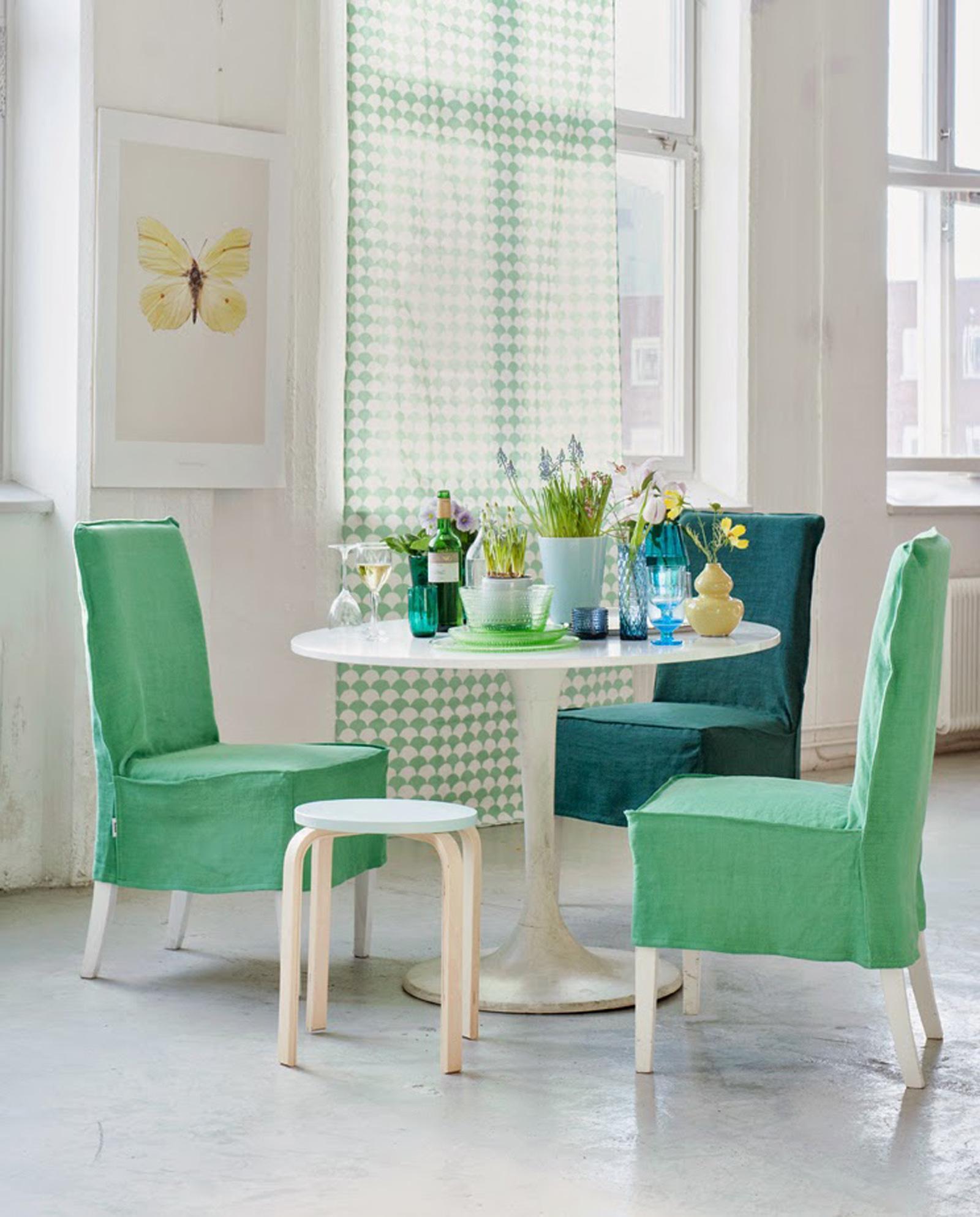 Farbliche Gestaltung Wohnzimmer ~ Stoffbezüge für farbliche gestaltung hocker esstis