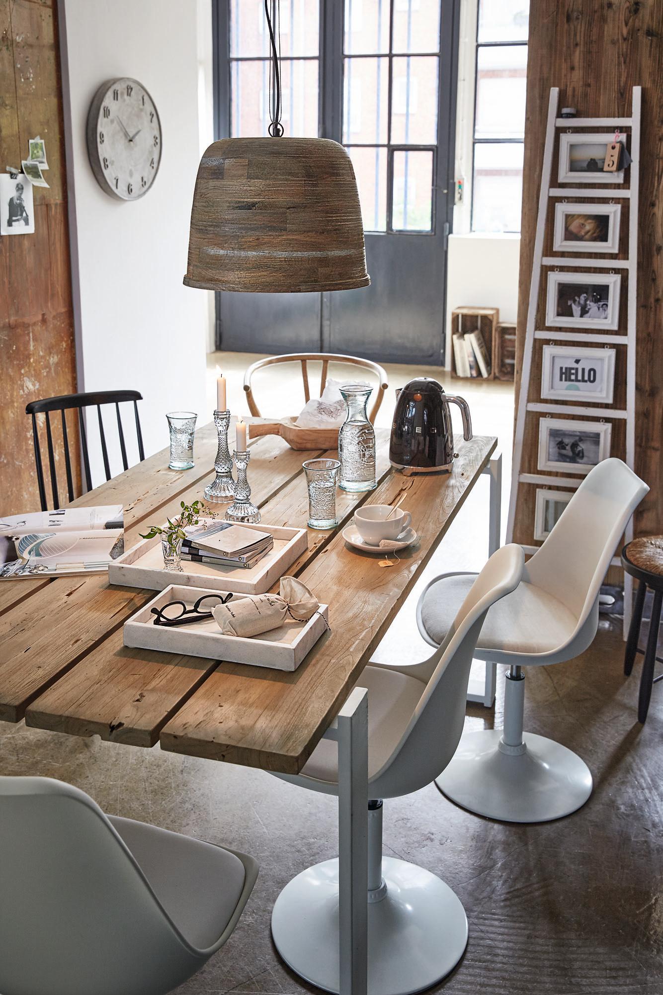 Strandhaus-Chic Im Essbereich #Küche #Holztisch #Pen