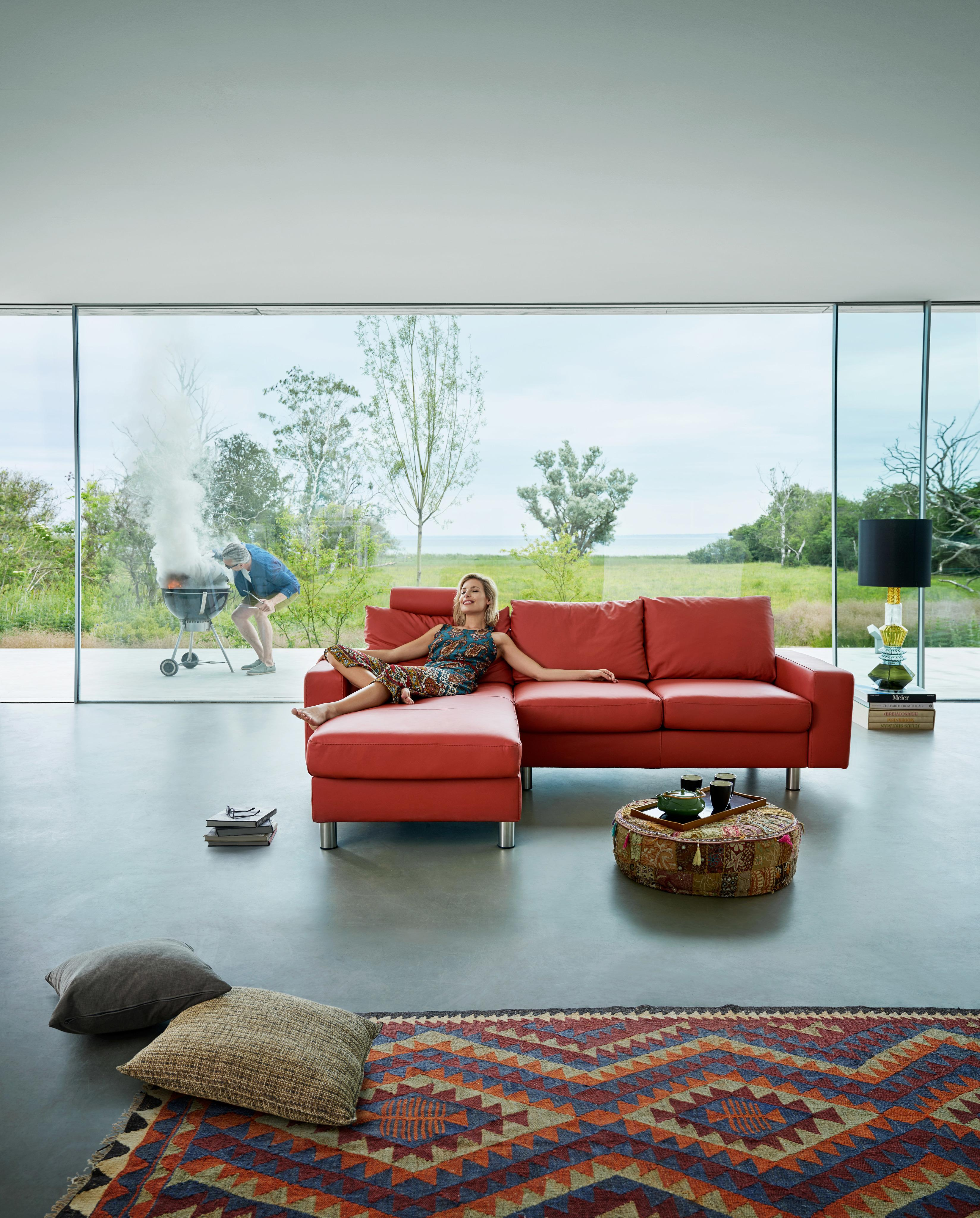 Stressless E200 Sofa mit Chaiselongue #ecksofa #sofa #chaiselongue ©Ekornes