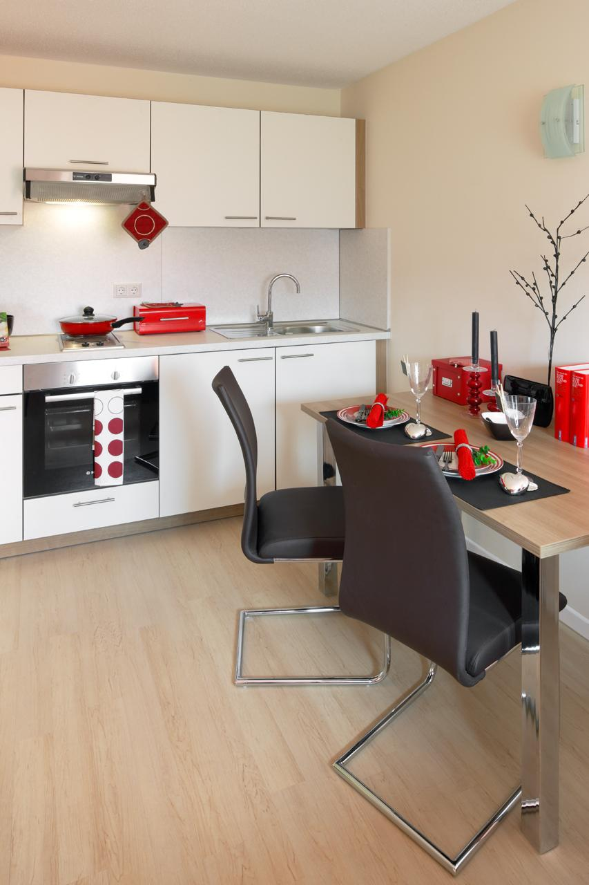 Studenten-Apartment #küche #tisch ©PROJECT FLOORS GmbH