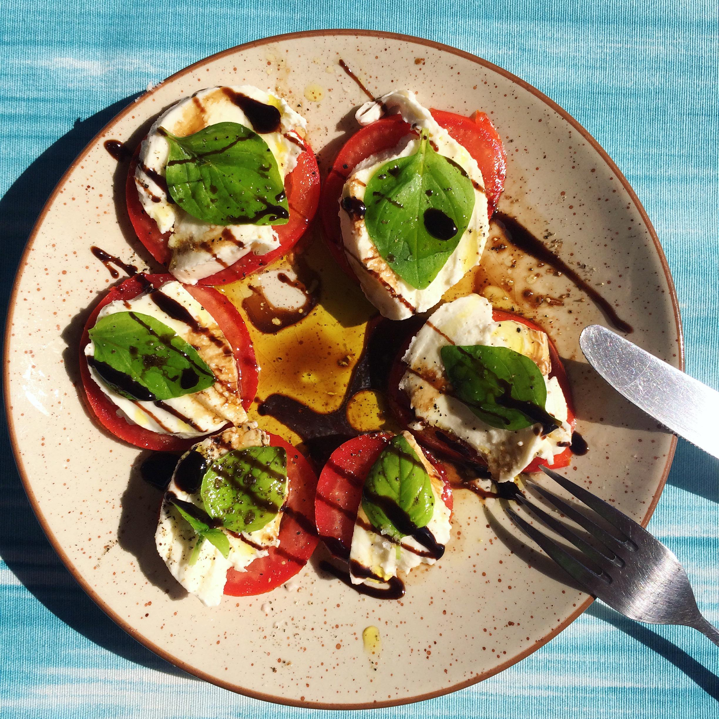 Summer Food #yummy #salat #tomatemozzarella #foodlove