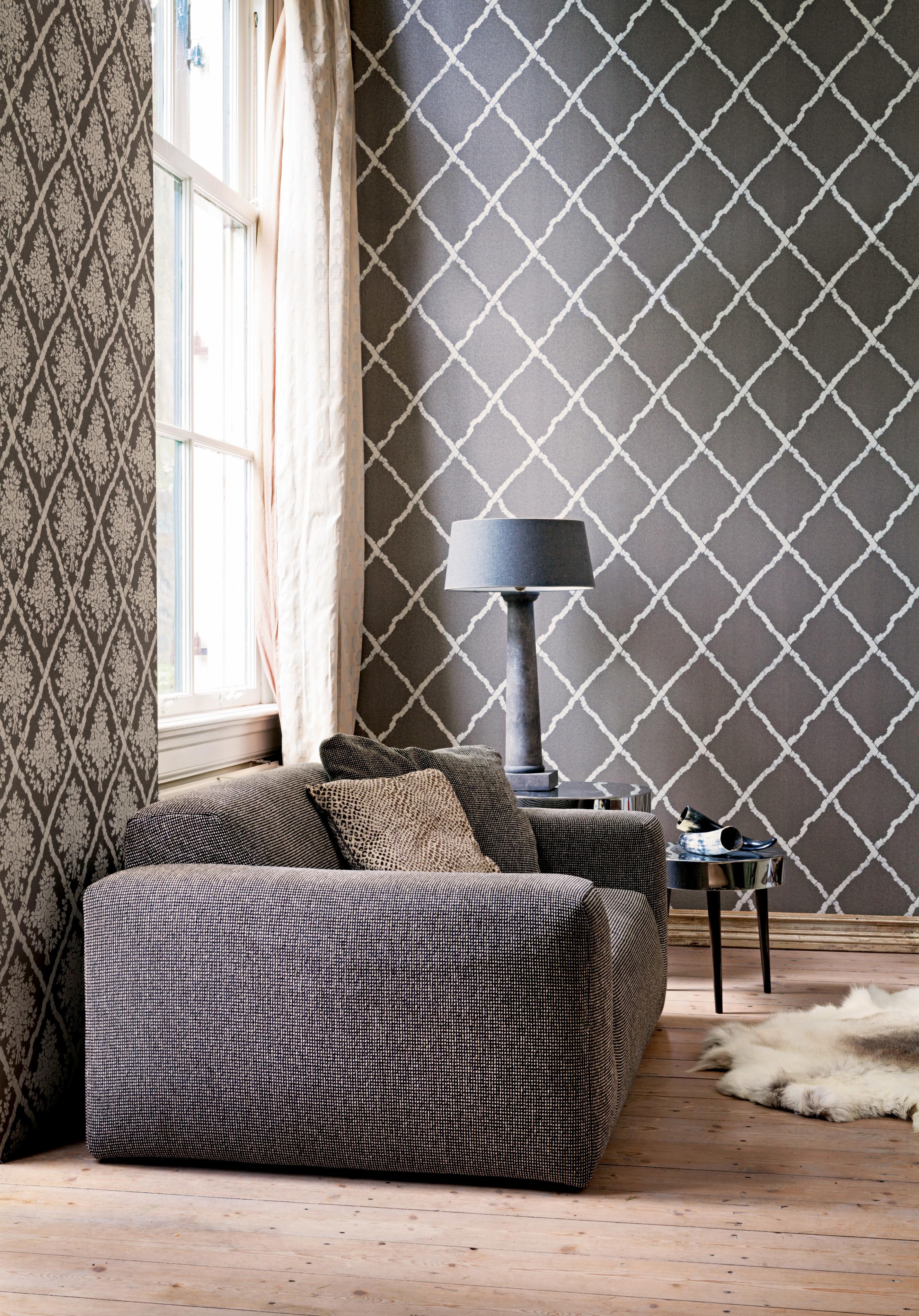 Gestreifte Tapete Bilder Ideen Couch