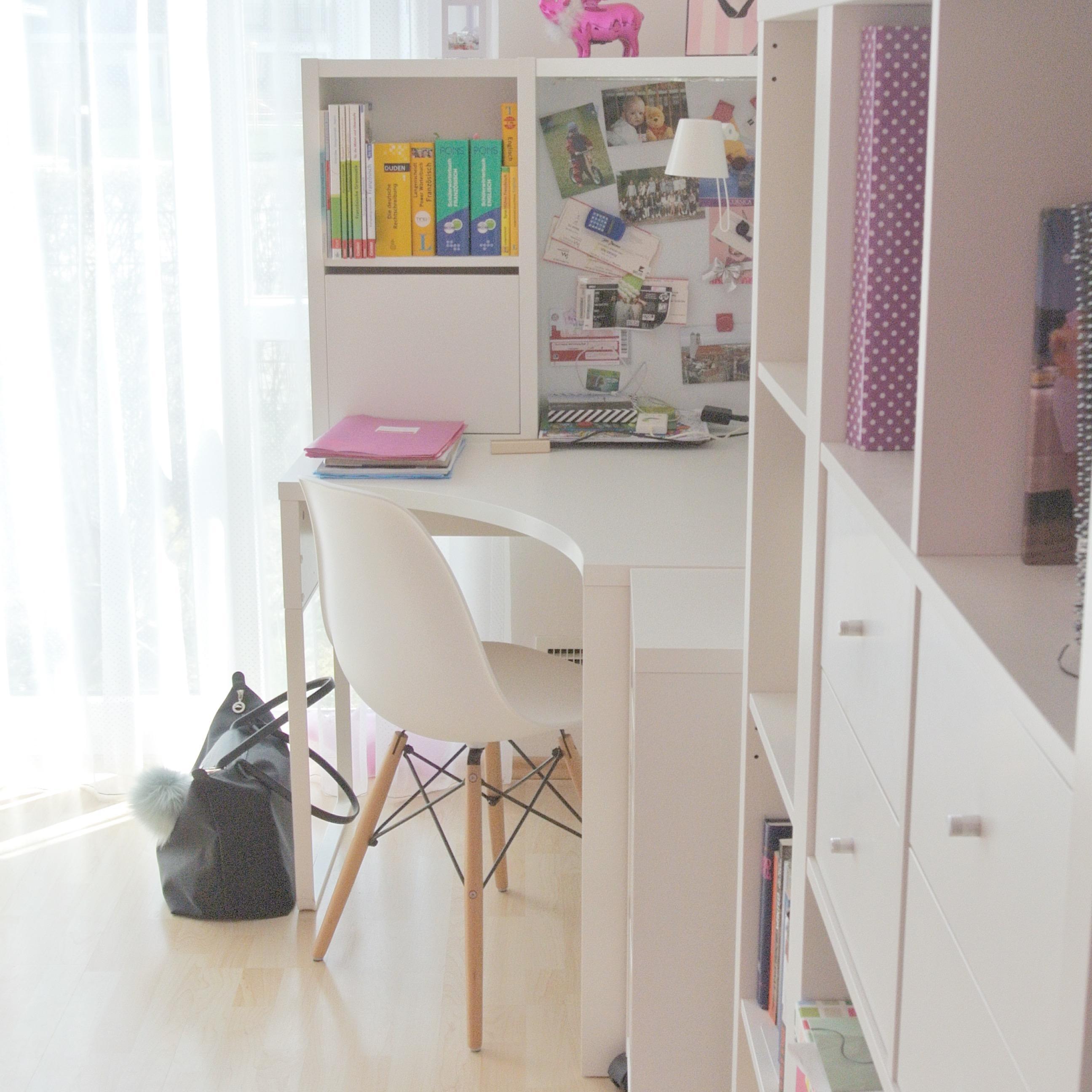 Schreibtisch weiß ikea mädchen  Teeniezimmer #jugendzimmerfürmädchen #jungendzimmer ... • COUCHstyle