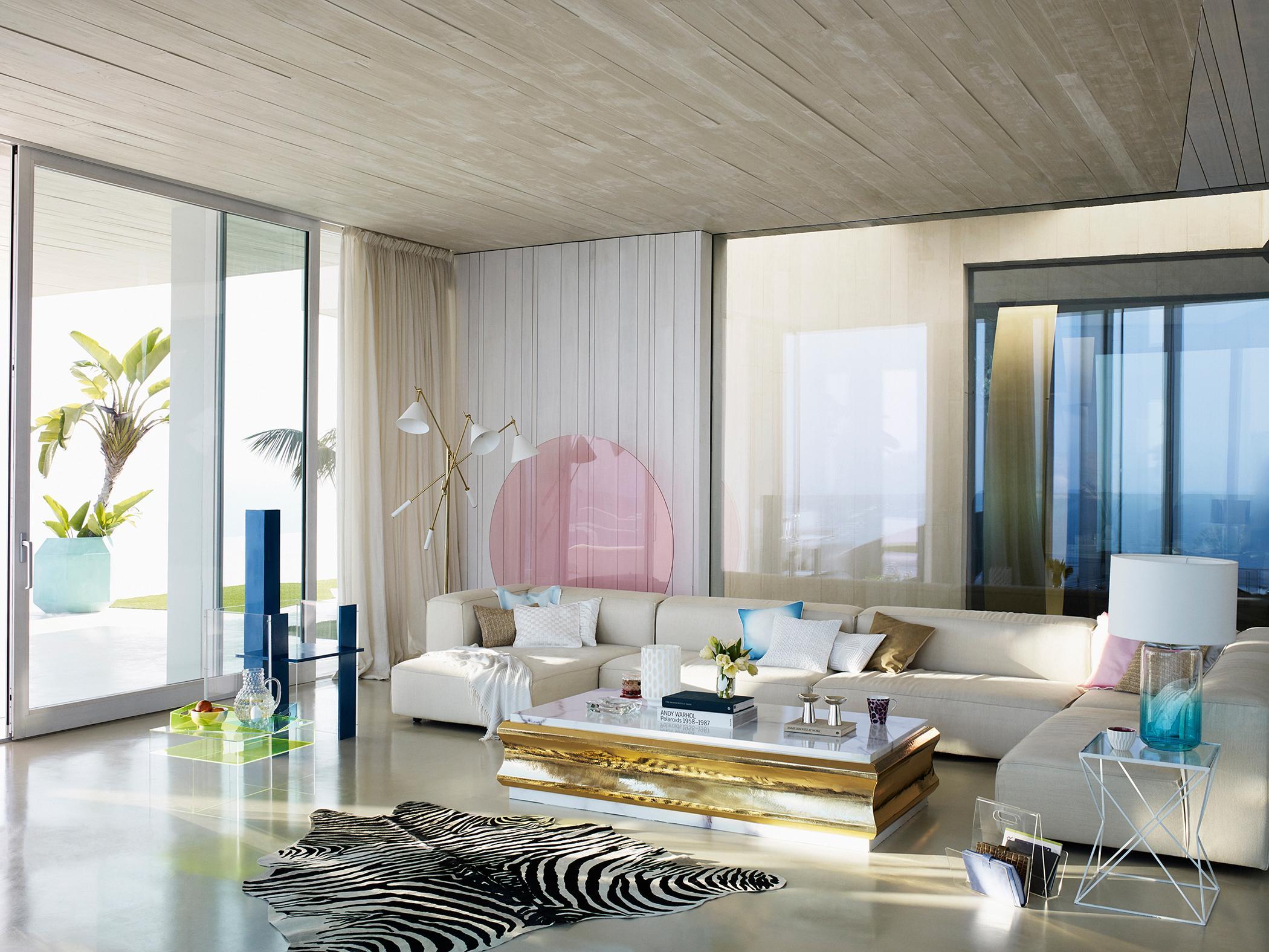 Verschiedene Wohnzimmergestaltung Ideen Das Beste Von Teppich In Zebrafelloptik Als Hingucker #couchtisch #teppich