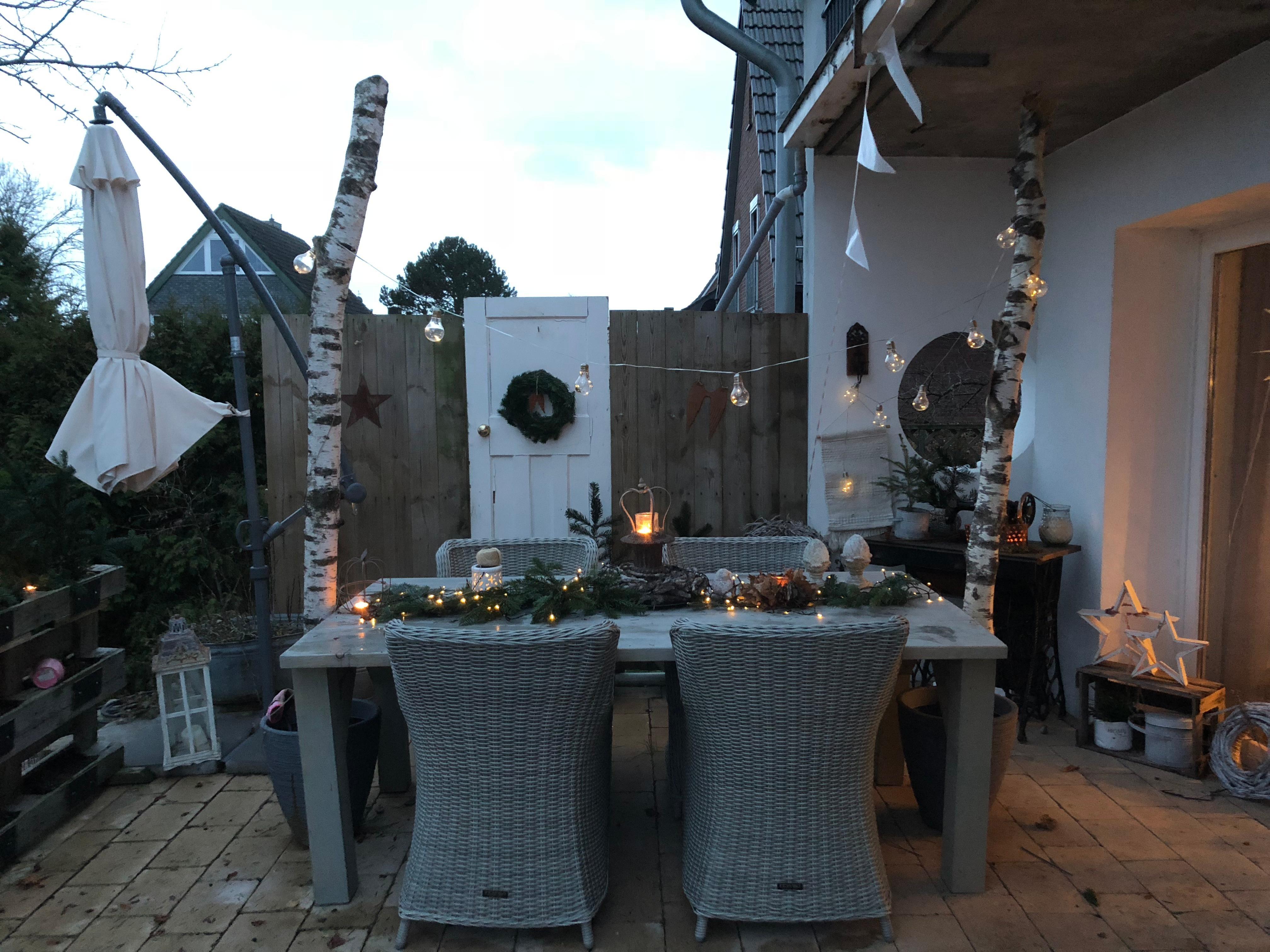 Terassendeko garten terrasse deko • COUCH