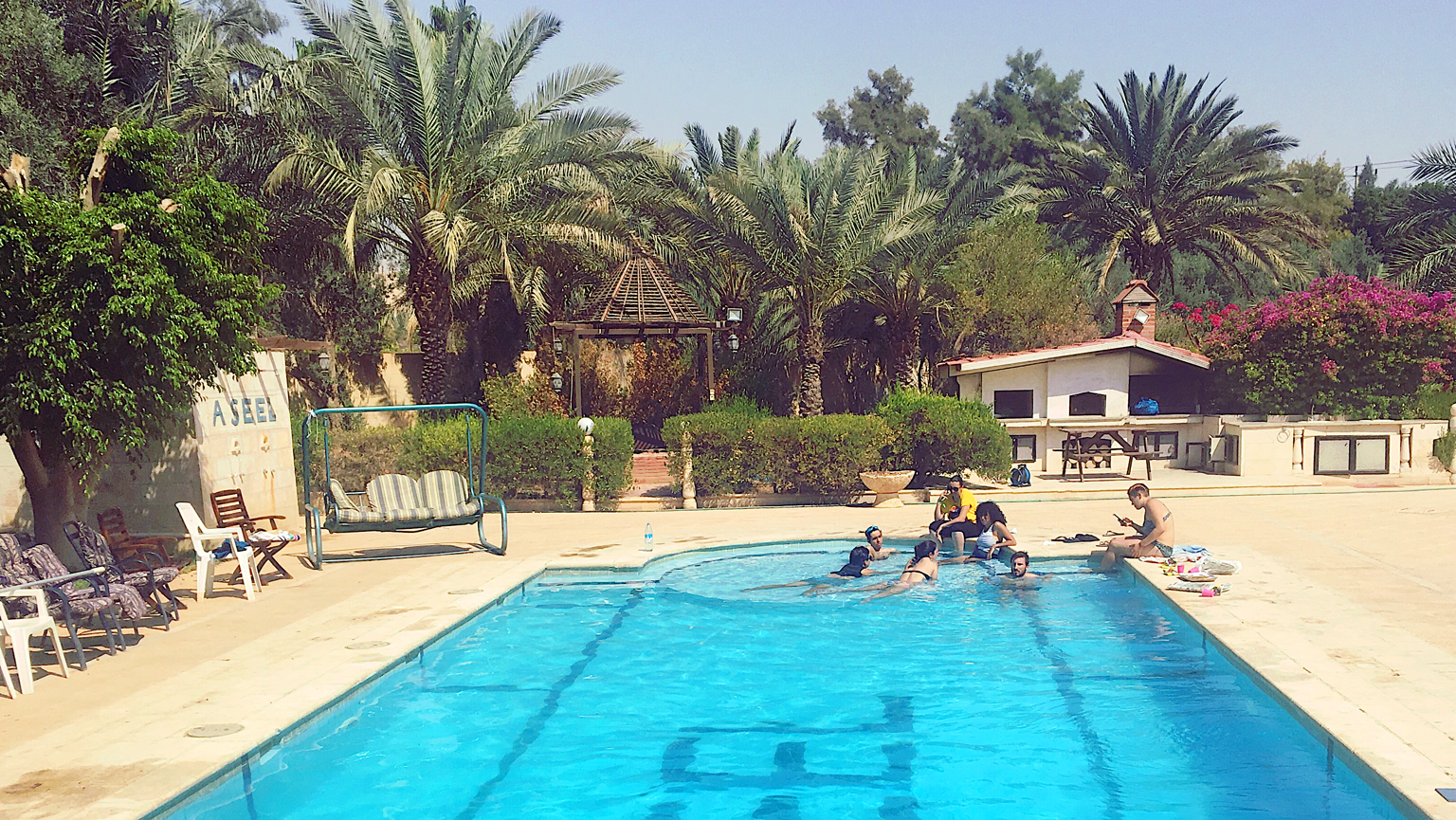 Throwback zur Pooltime im 40° heißen Jordanien