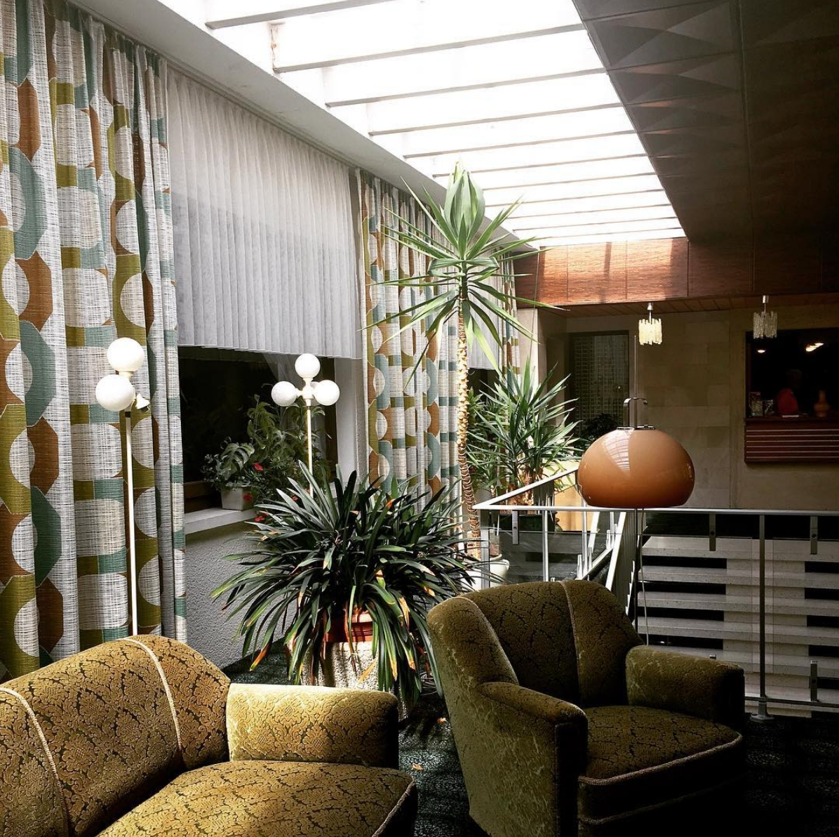 Time travel with #parkhotel1970 #livingroom #architecture #vintagelove #interior