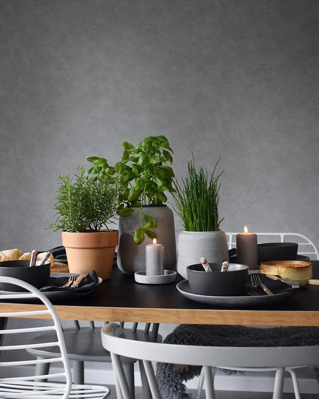 #tisch #tablesetting #dinner #abendbrot #onthetable herbs