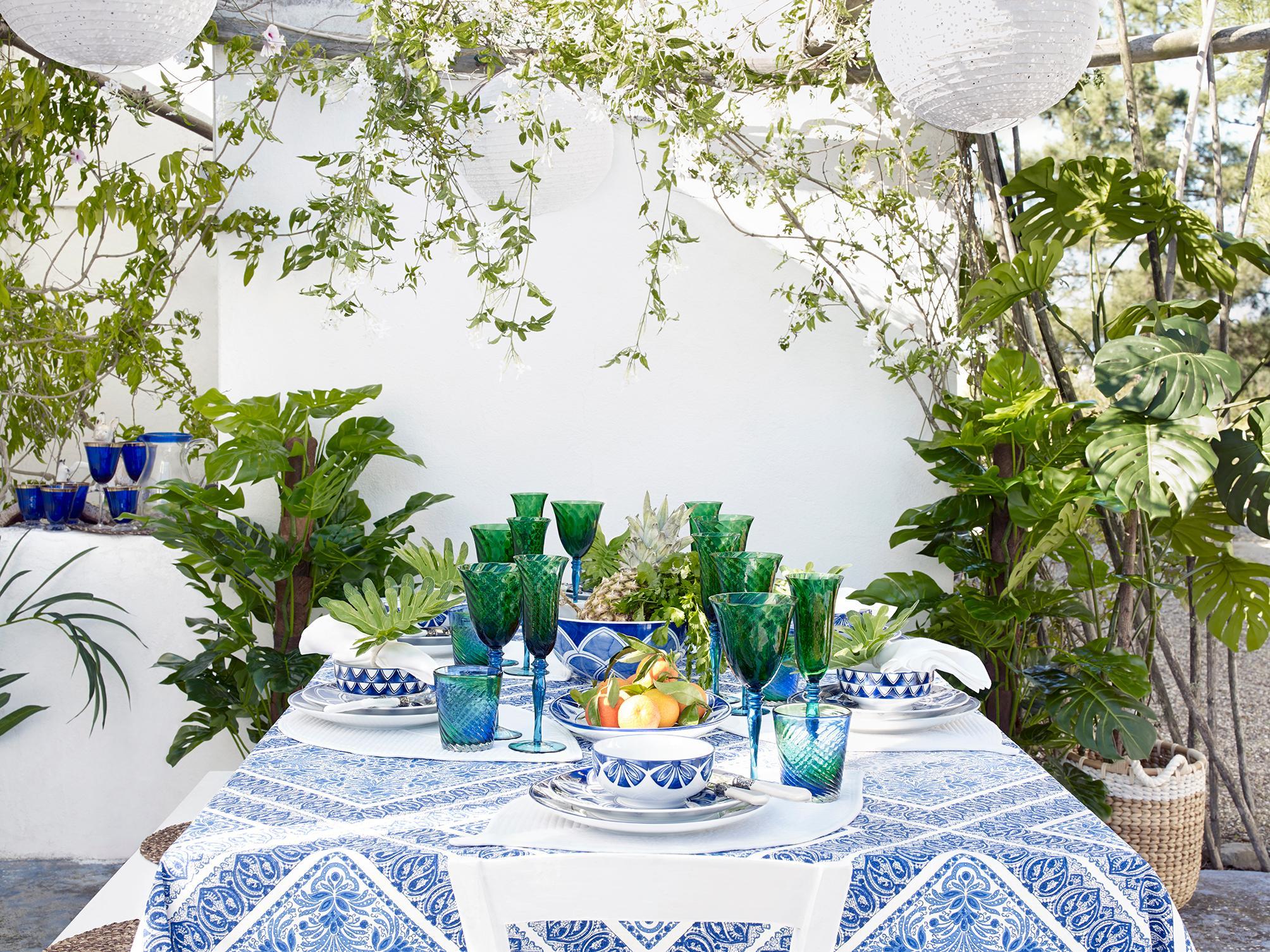 Tischdeko In Blau Und Grun Esstisch Tischdeko Zar