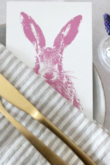 tischdeko ostern postkarte als g stegru zum mitn. Black Bedroom Furniture Sets. Home Design Ideas