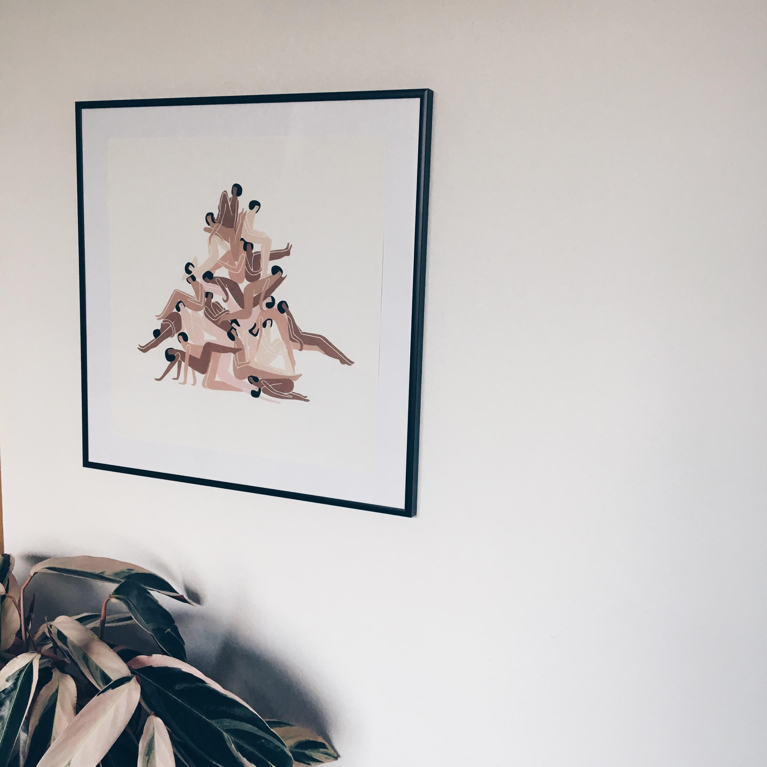 Togetherness #lauraberger #print #interior #inspiration #calathea #bedroom