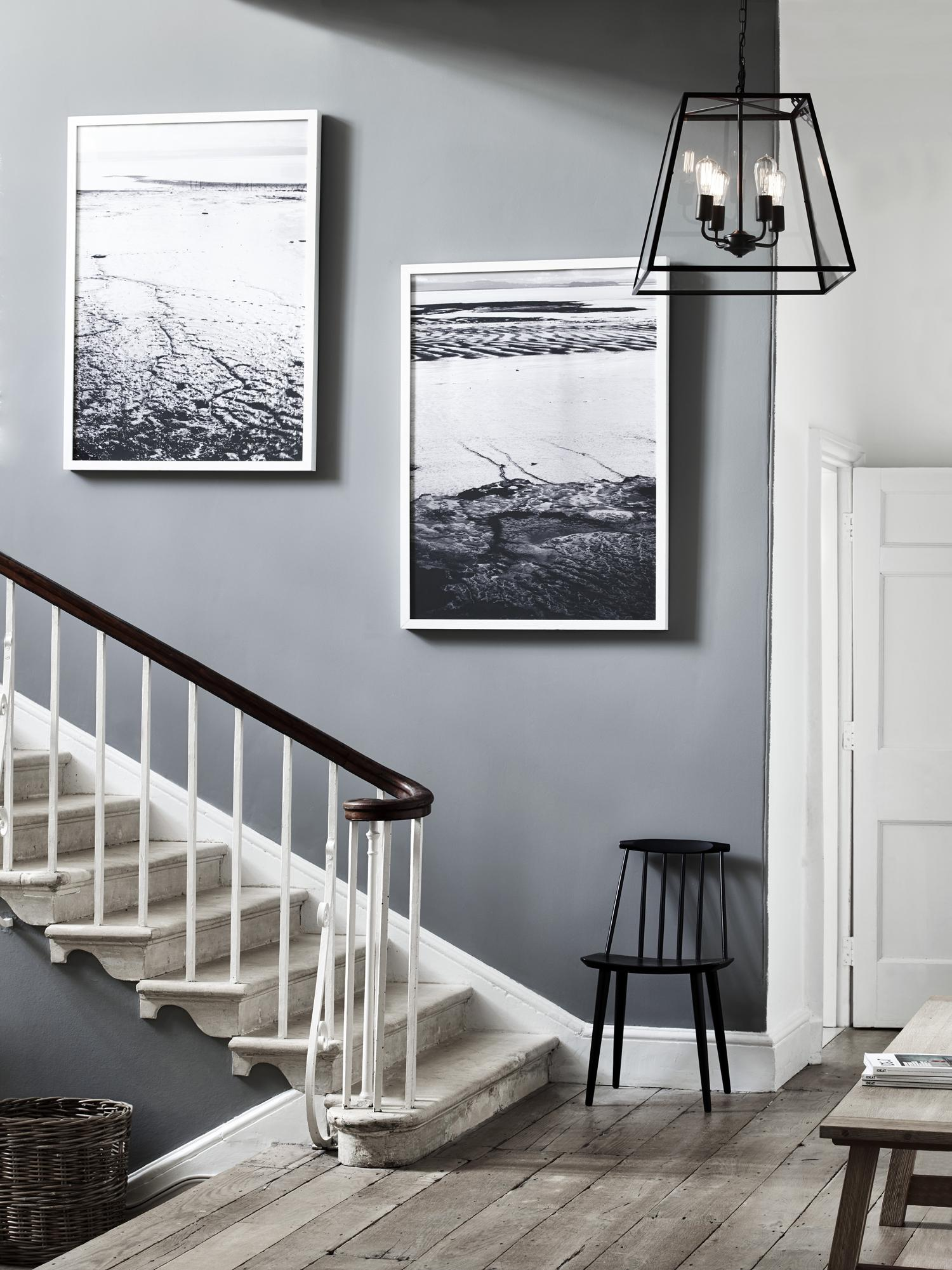 Wandgestaltung f r den flur bilder ideen couch for Treppenhaus grau