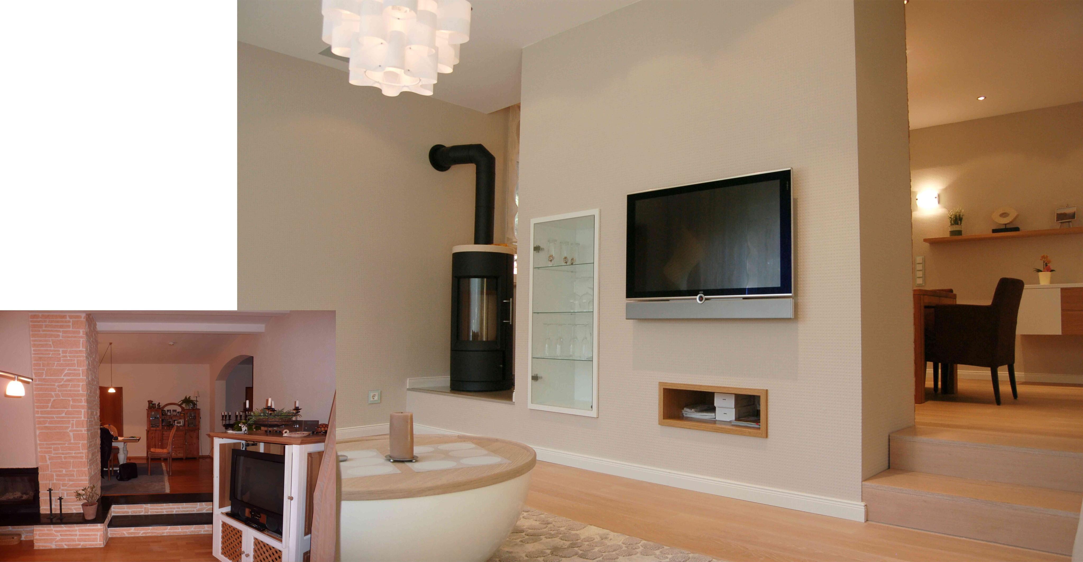 fernseher an wand bilder ideen couchstyle. Black Bedroom Furniture Sets. Home Design Ideas