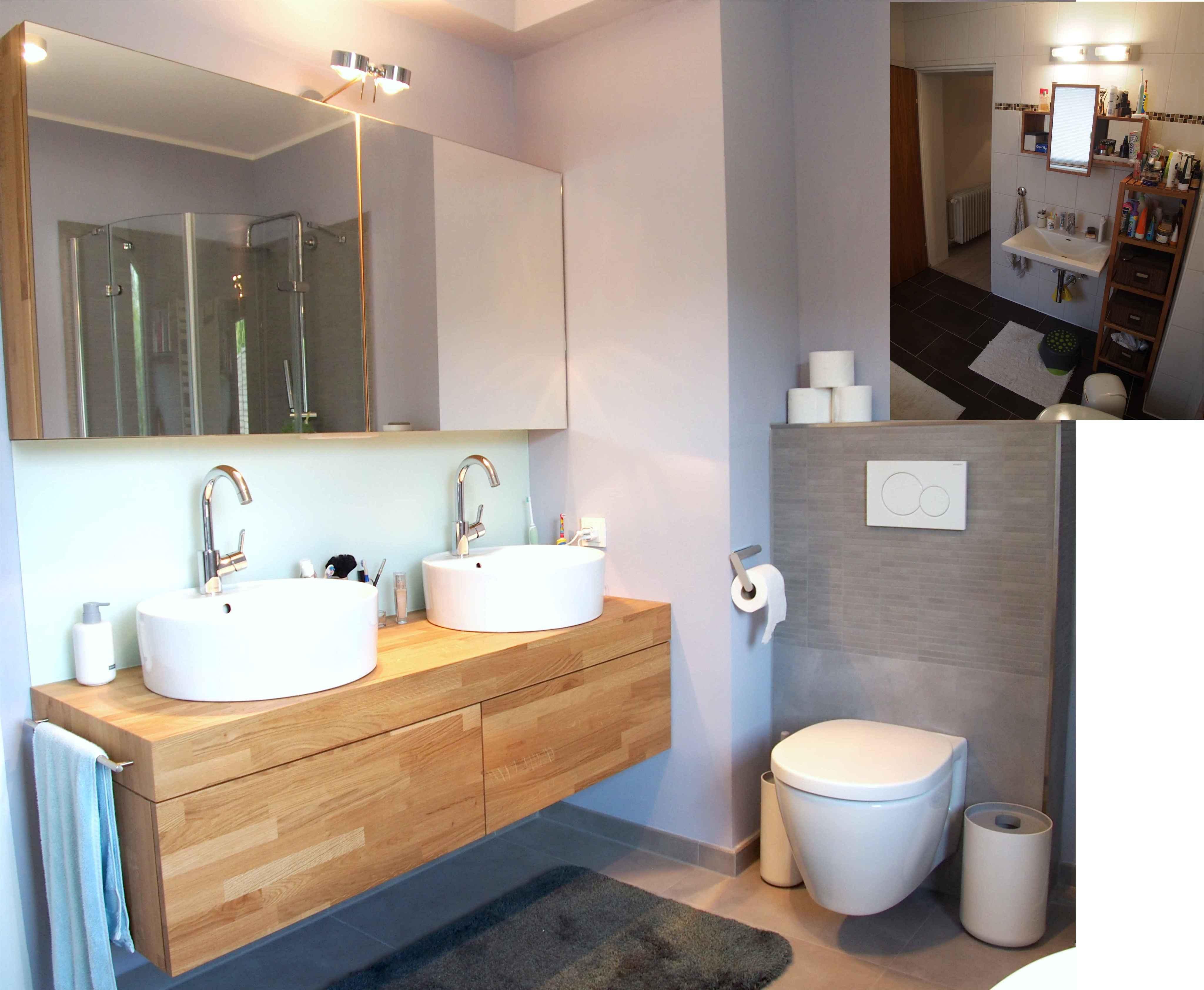 Umbau Wohnhaus Aus Den 70er Jahren #badezimmer #badezimmerschrank  #waschbecken #waschbeckenunterschrank ©Yvette