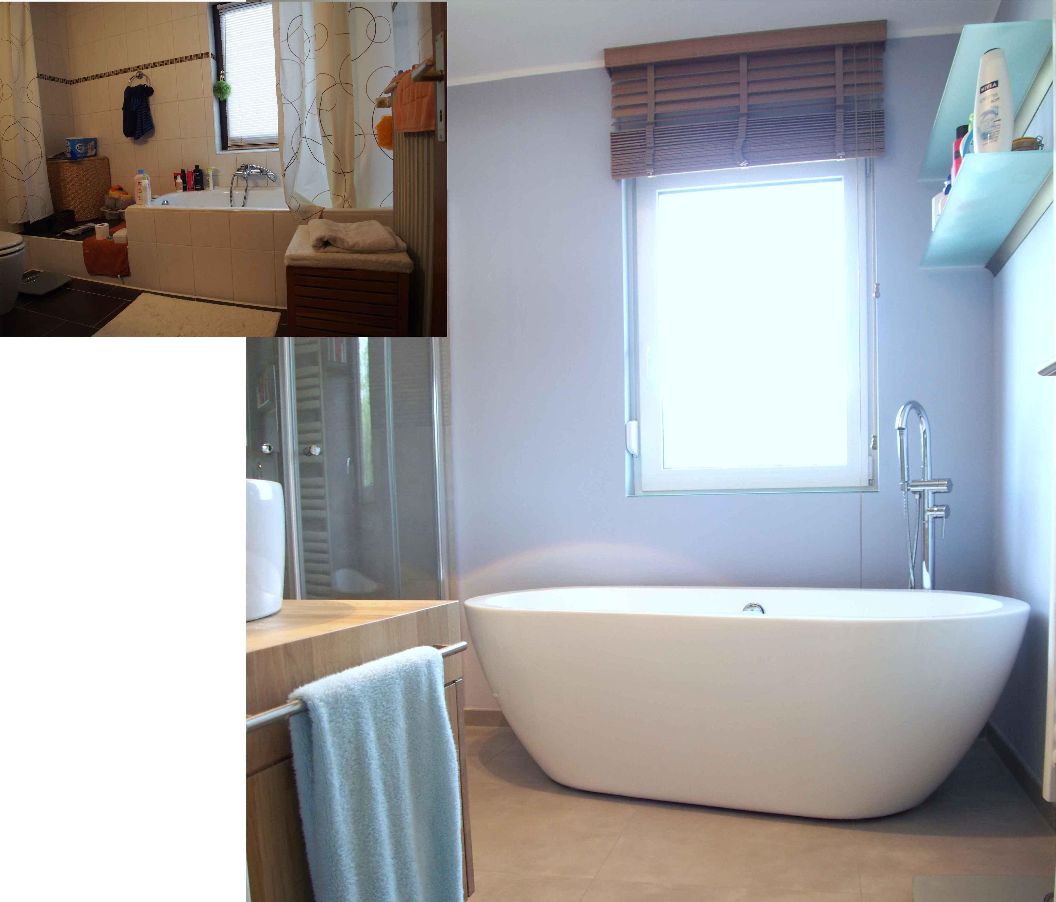 Umbau Wohnhaus Aus Den 70er Jahren #wandregal #badewanne #badezimmer  ©Yvette Sillo