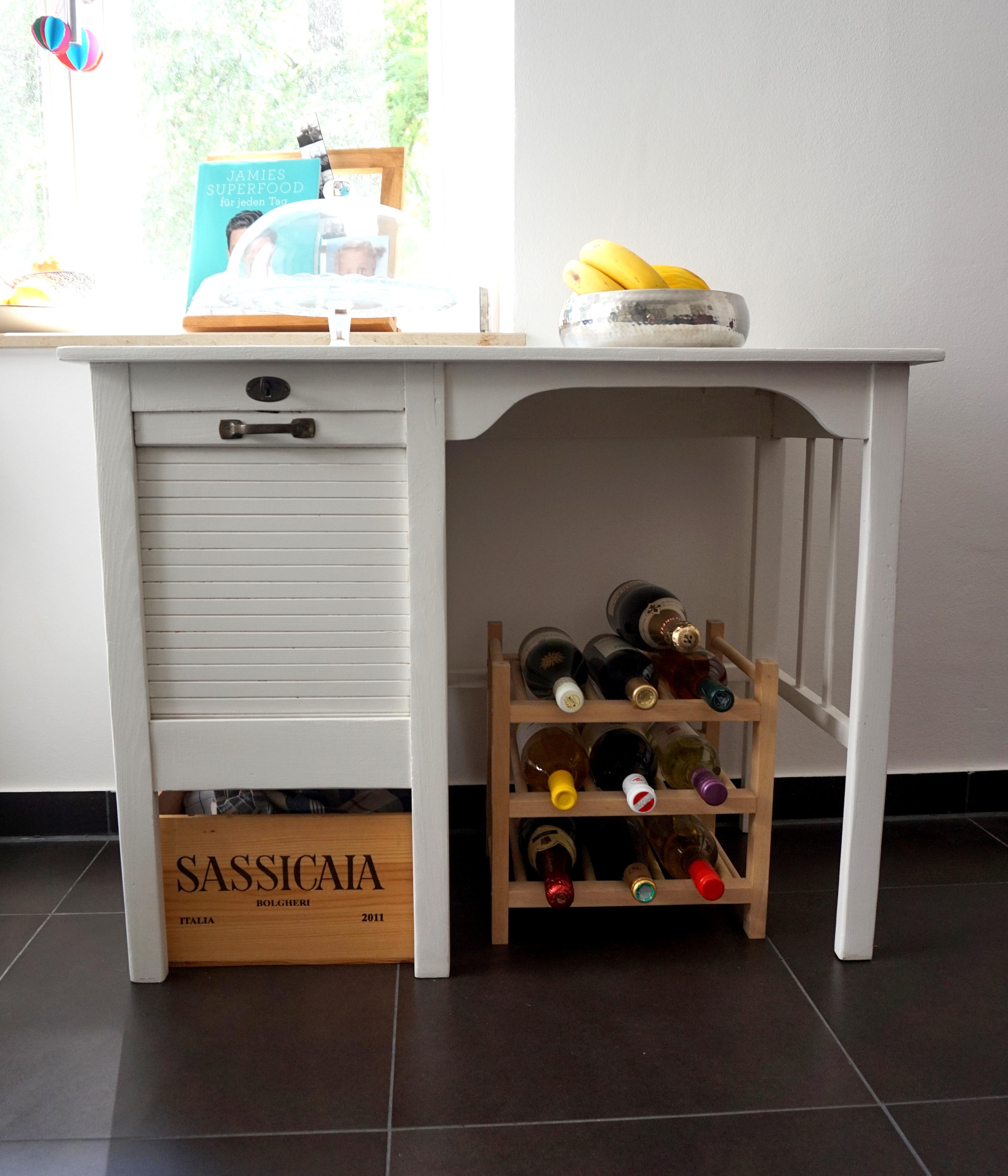 umfunktionierter kinderschreibtisch #vintage #flohma... ? couchstyle - Weinregal Für Küche