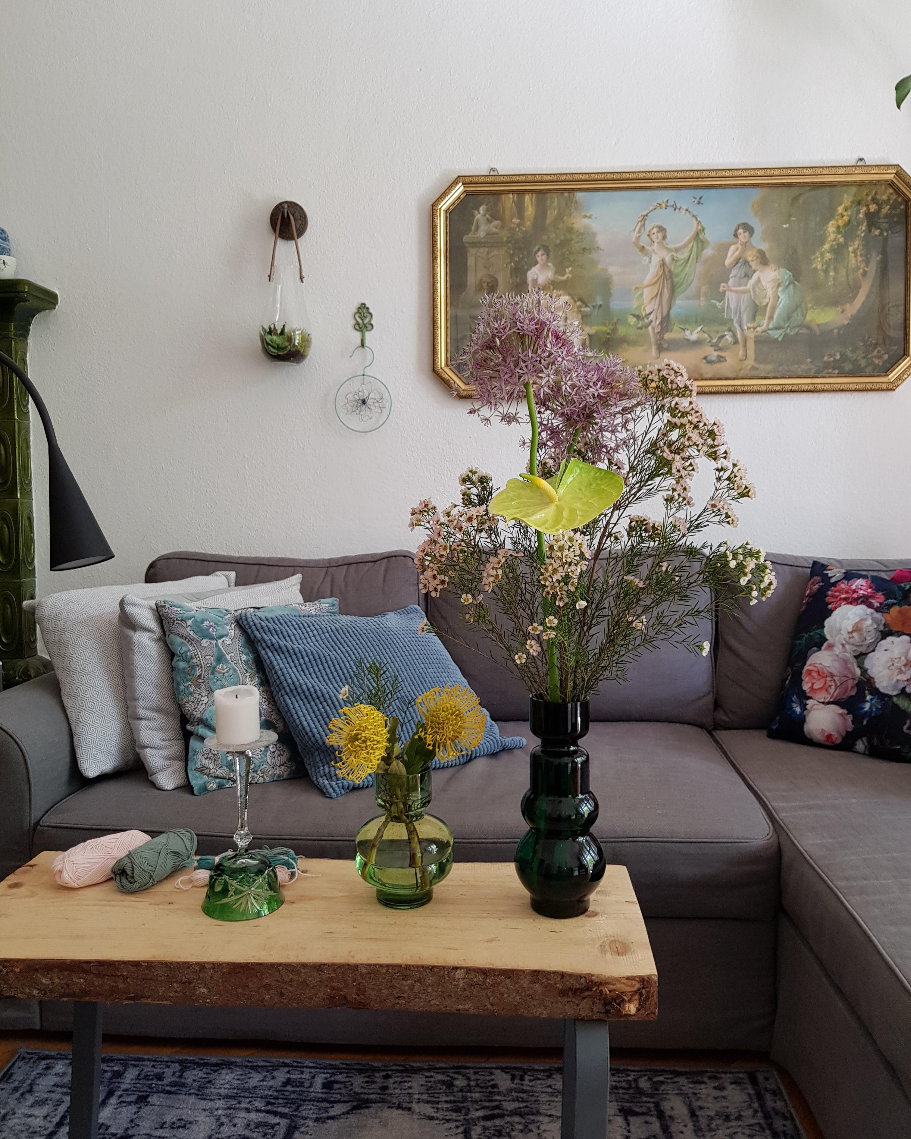 Unser Selbst Gebauter #diy #tisch Im #wohnzimmer #altbau