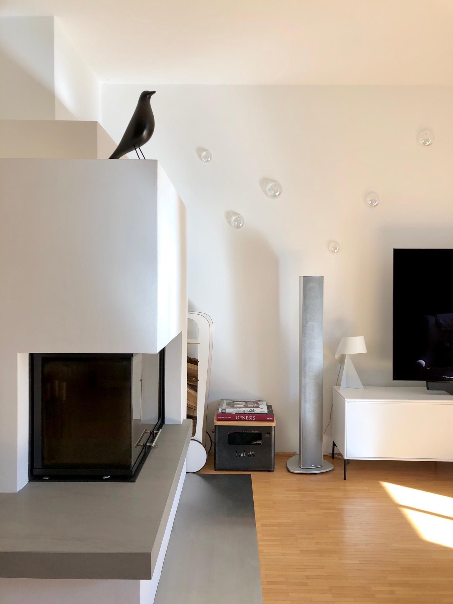 Unsere Kamin Ecke Im Wohnzimmer Hygge Eames Sk