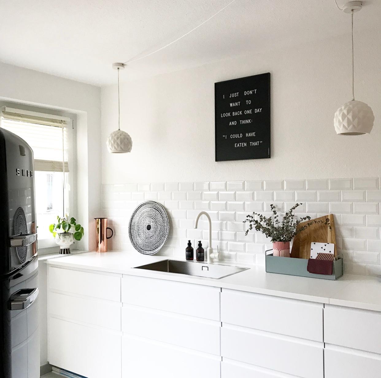 Unsere Küche 🖤. #livingchallenge #küche #metrofliesen