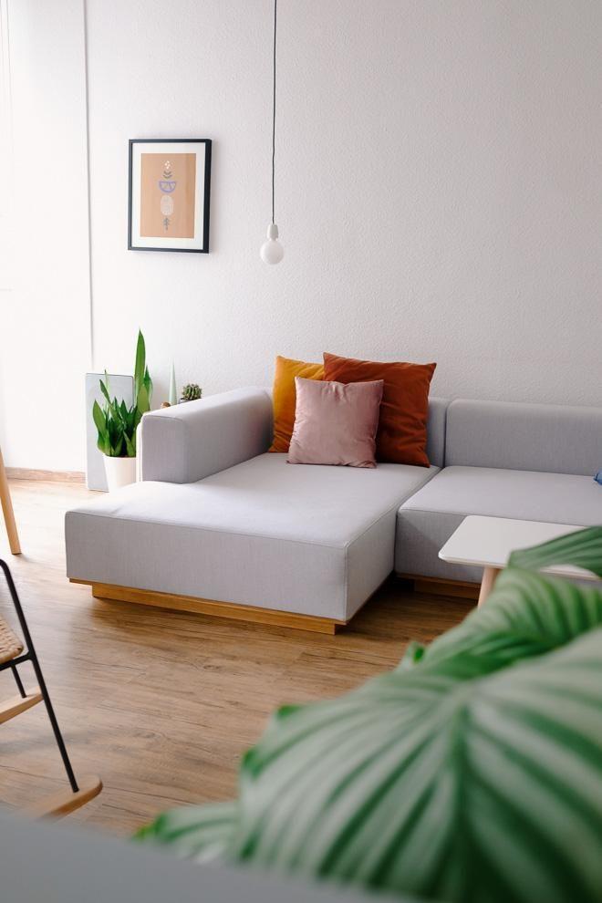 Unsere Neue Couch Groß Grau Und Gemütlich Sofa