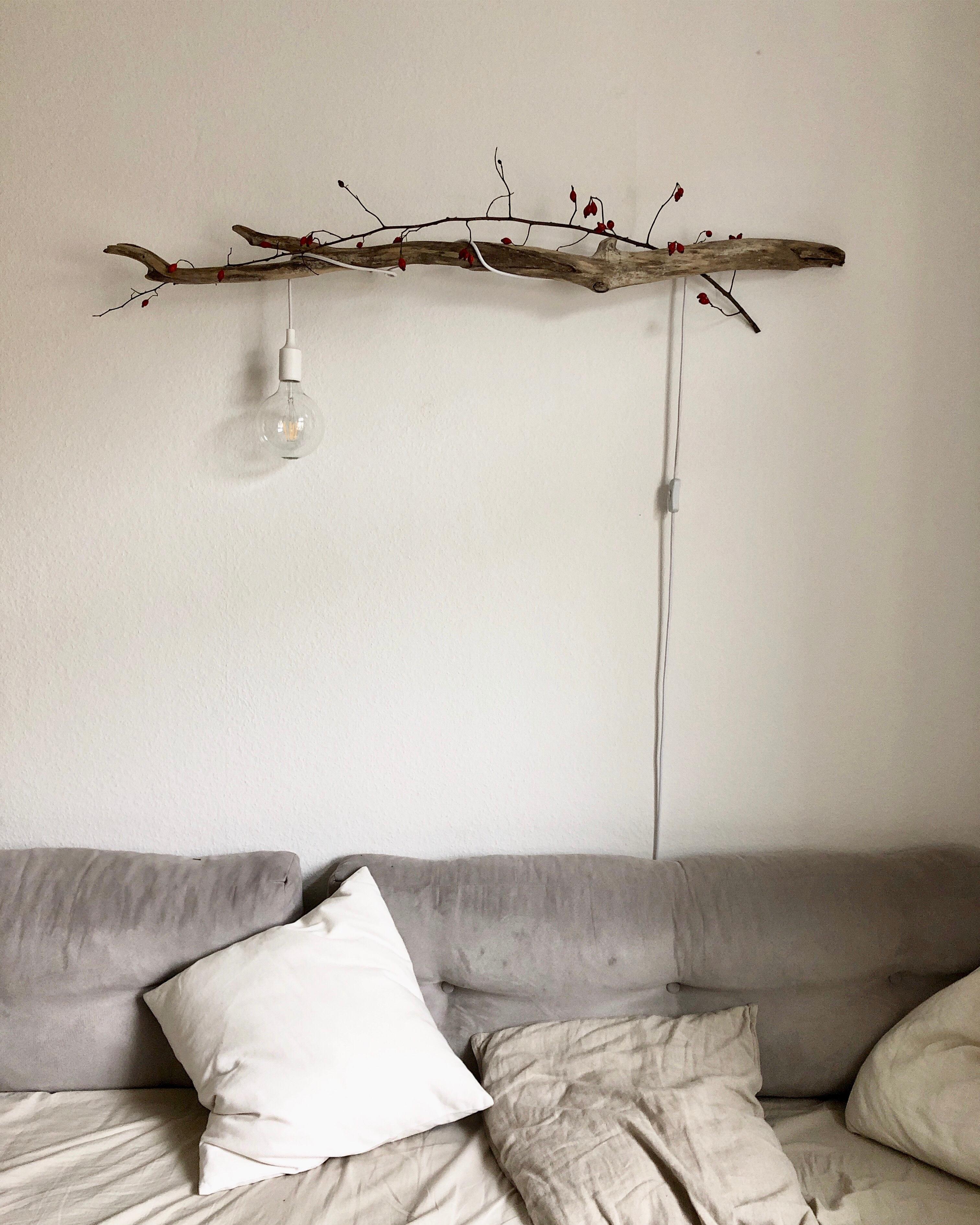 Unsere #treibholzlampe im #wohnzimmer. #diy #lampe
