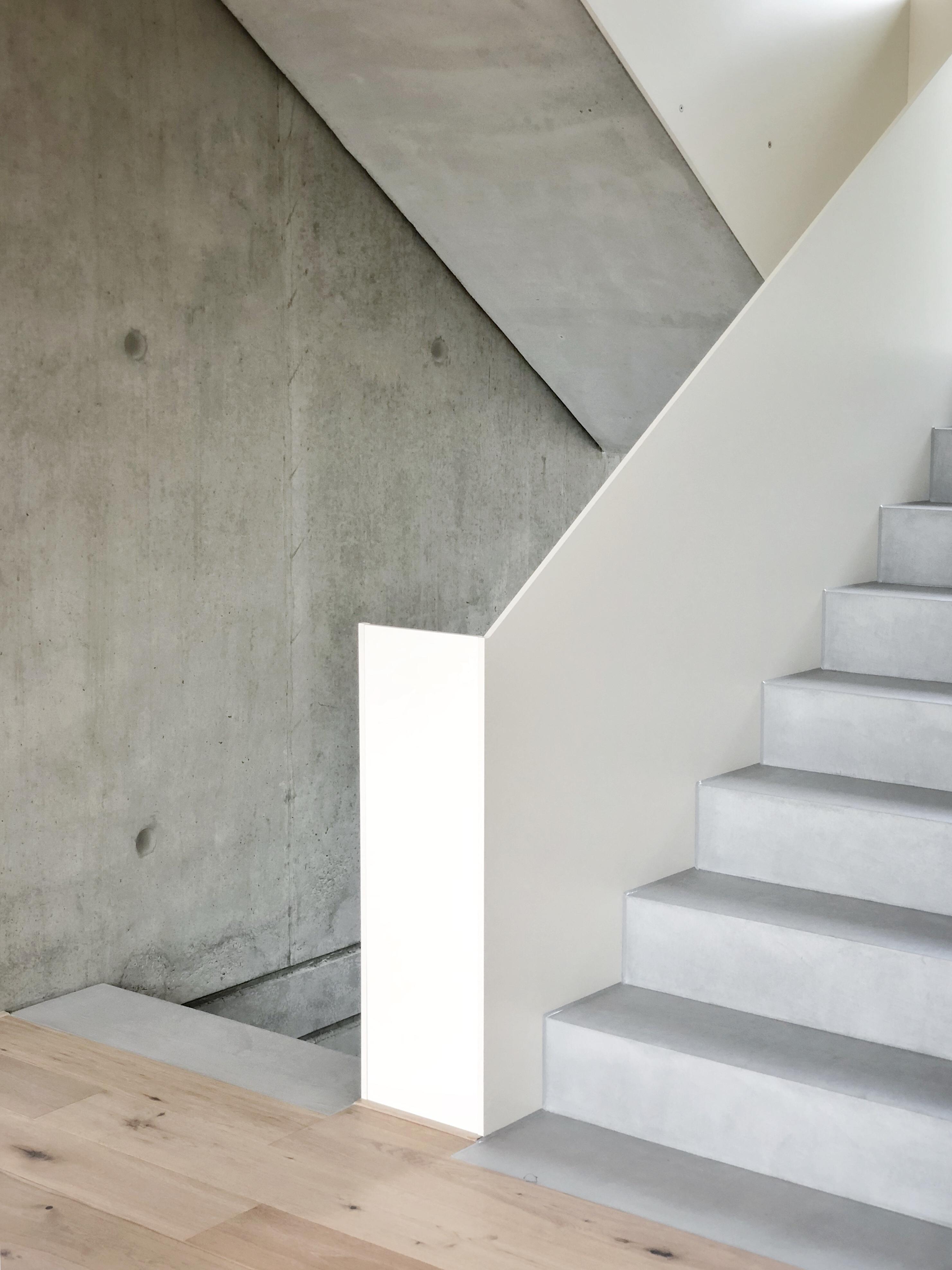 Unsere Treppe Ist Fertig Treppesichtbetonbetonc