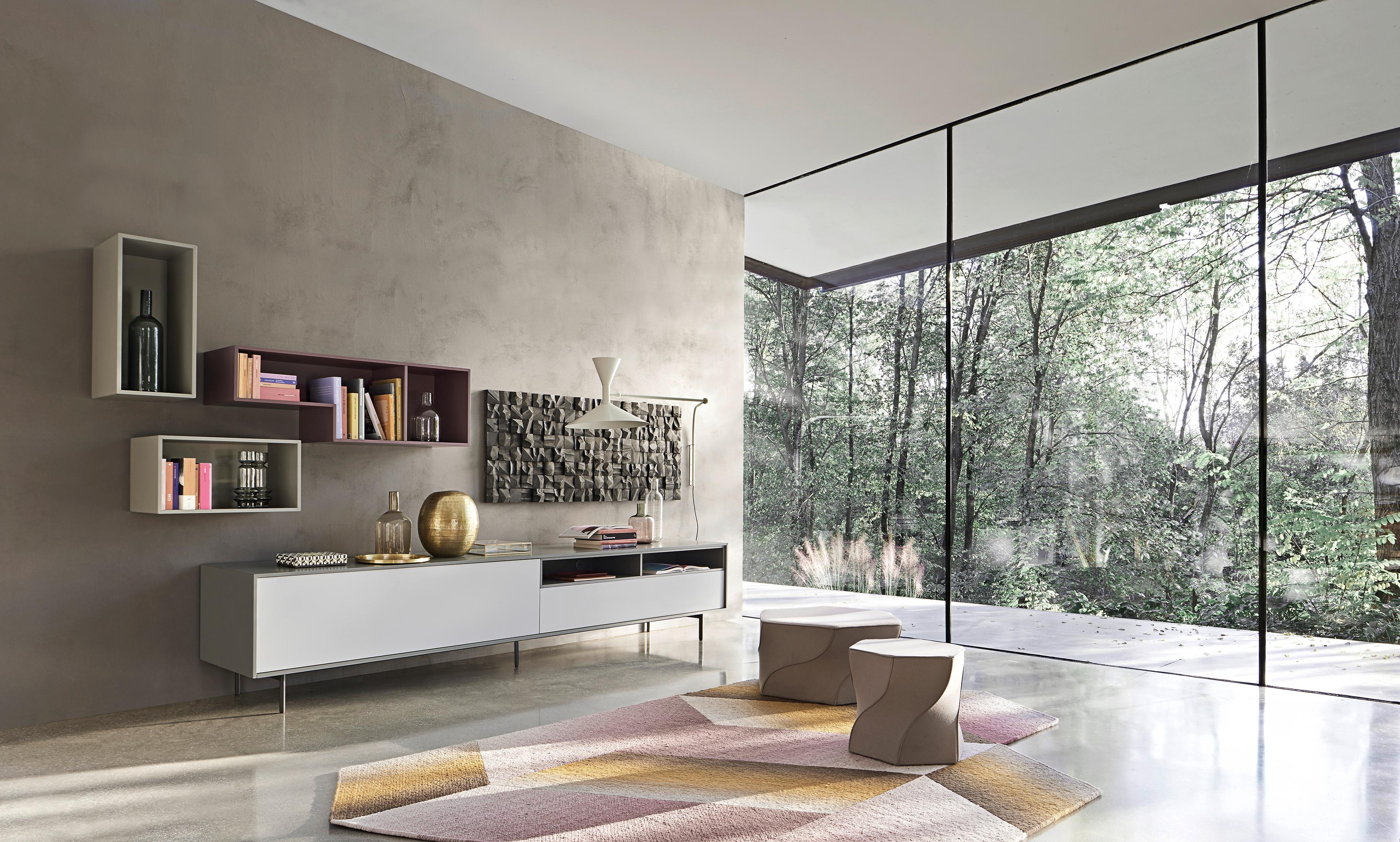Cheap Viel Licht Und Ein Blick In Die Natur Wohnzimmer Interior Wohnwand  With Fernsehwand Mit Indirekter Beleuchtung