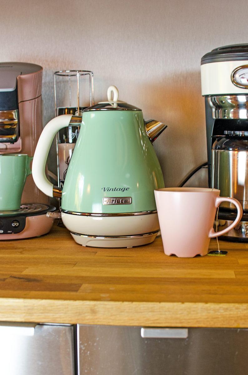 Vintage Retro Style in der Küche #wasserkocher #Küc....