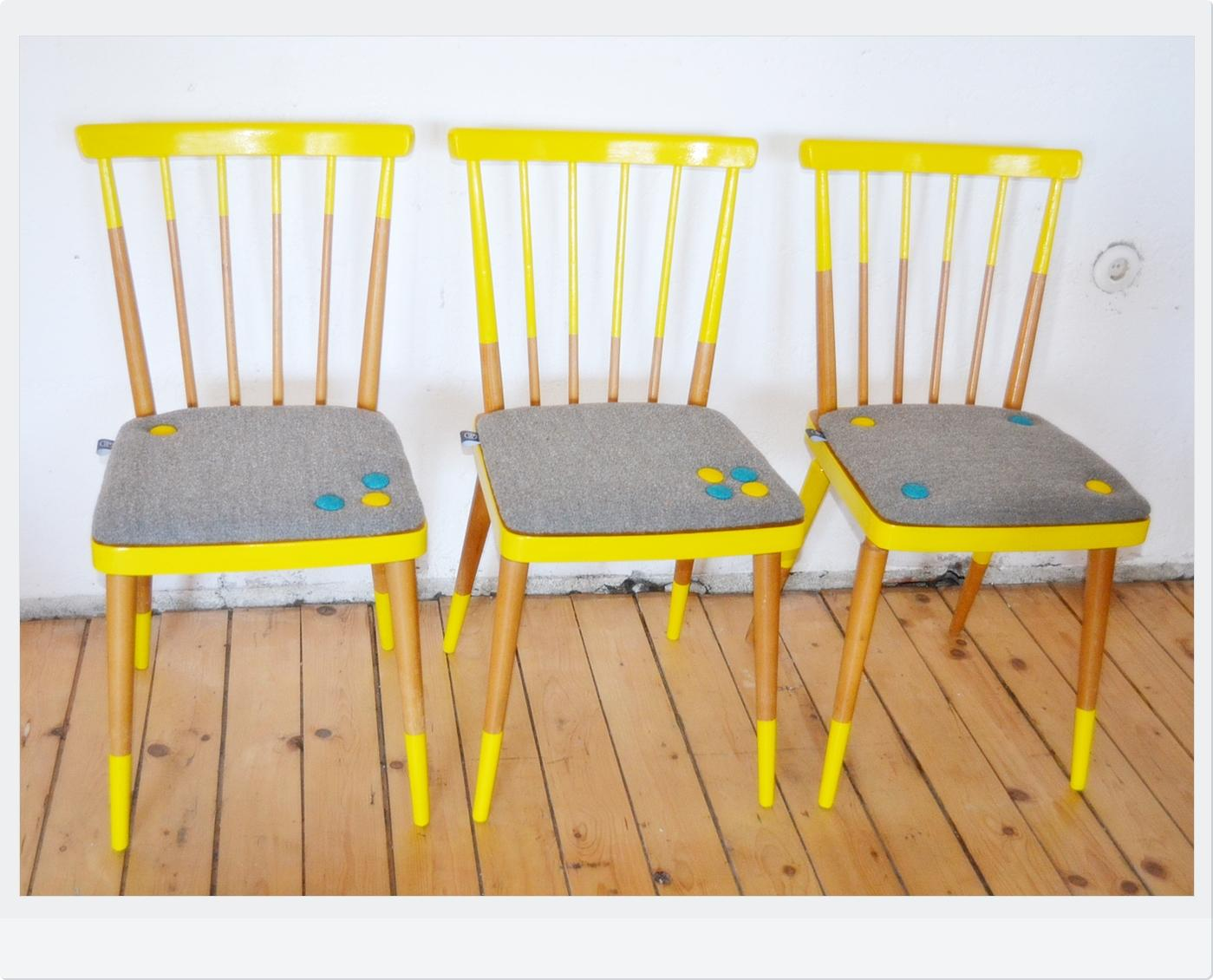 Vintage Stuhl Upcycling Yellow #stuhl #upcycling ©Raummission