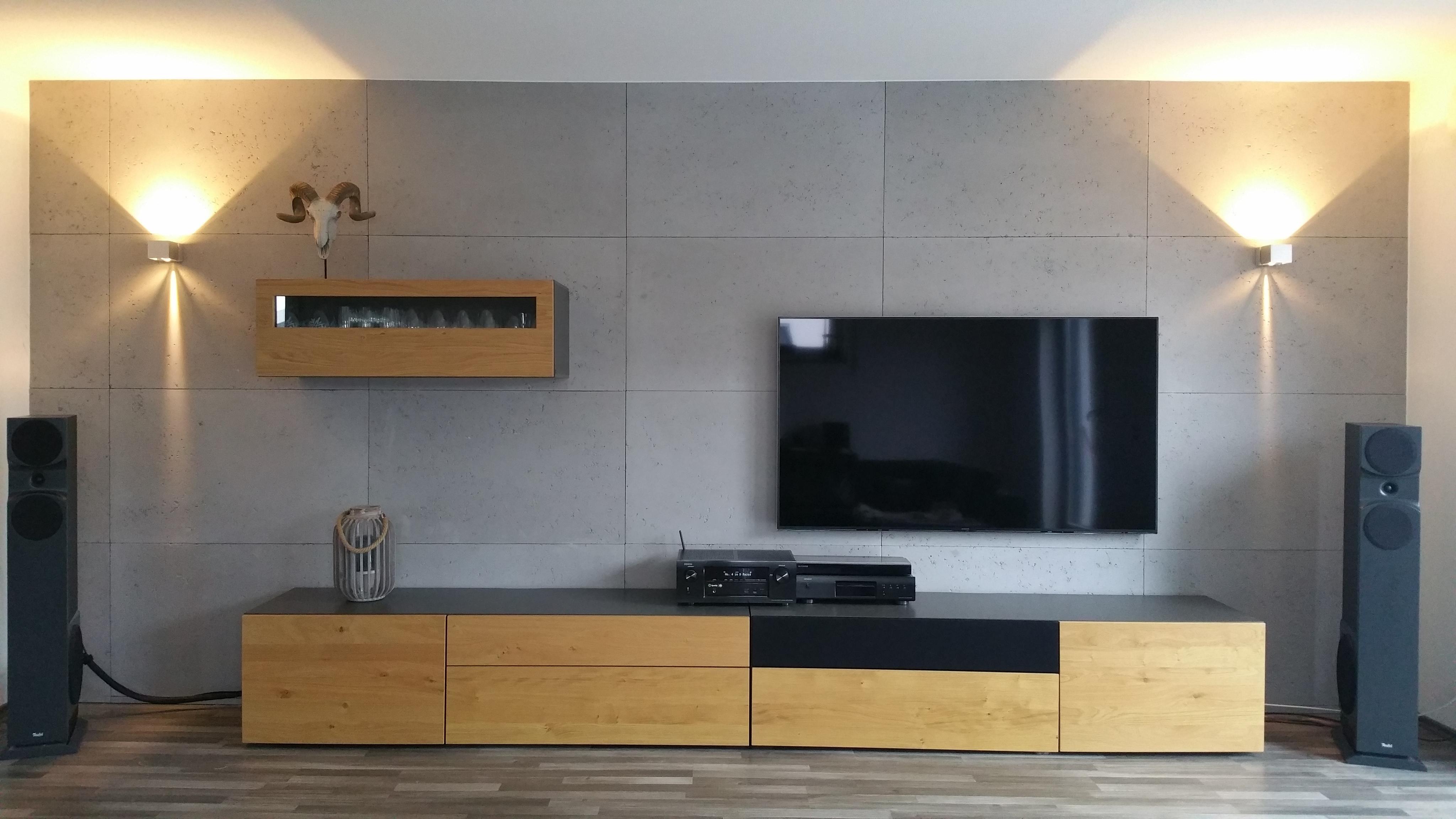 wand in betonoptik • bilder & ideen • couch
