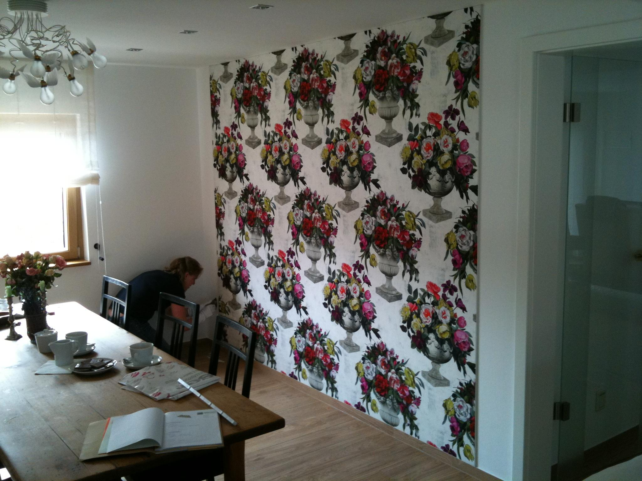 Wandbespannung Mit Stoff Bilder Ideen Couch