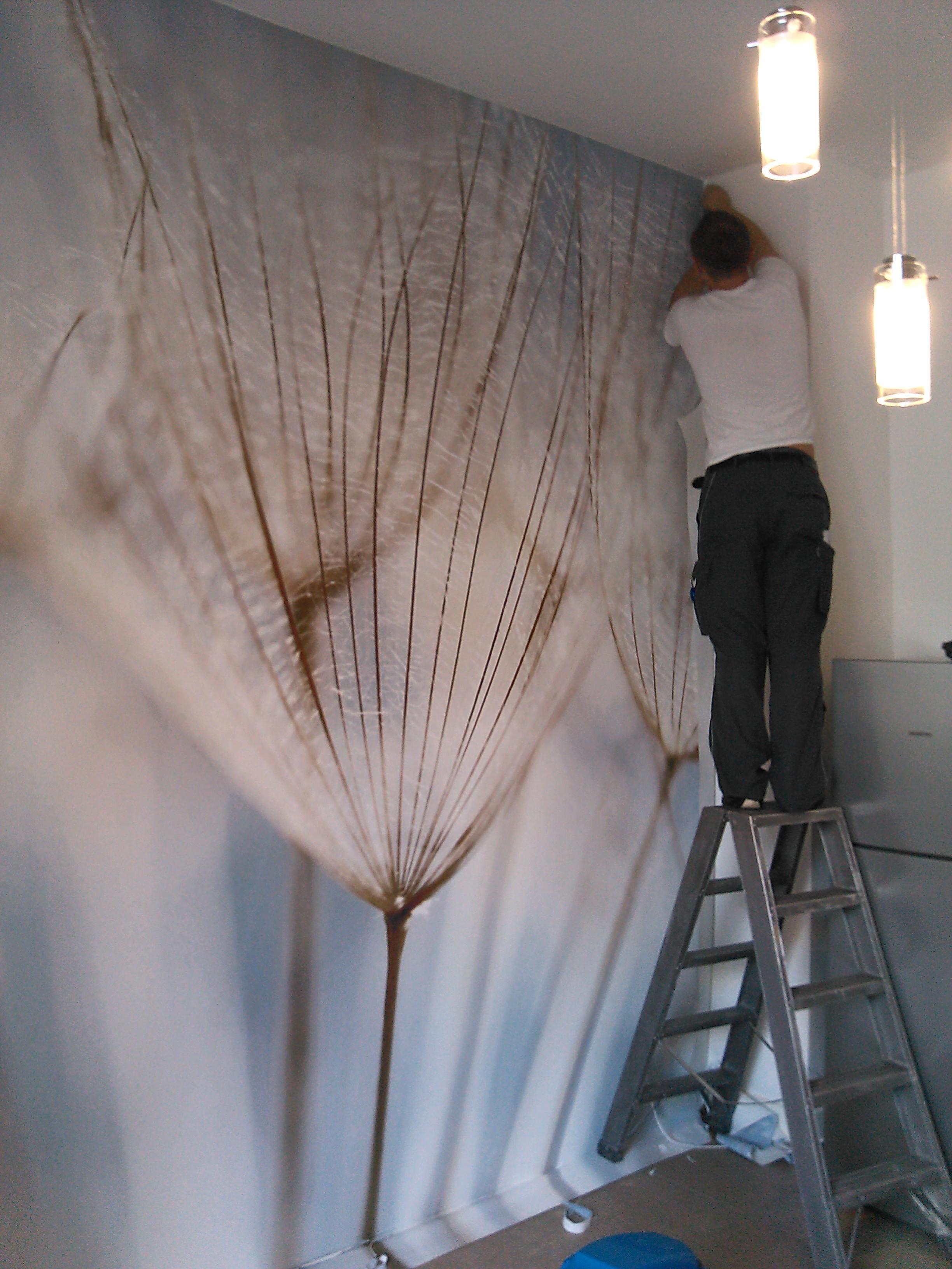 Wandbespannung mit stoff bilder ideen couchstyle - Wandgestaltung mit stoff ...