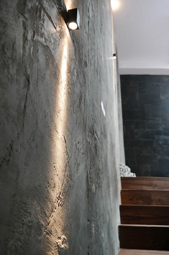 Wandgestaltung Betonoptik #wandgestaltung #treppenhaus ©WAND 1