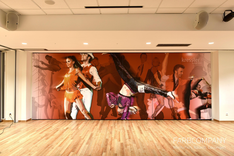Wandgestaltung/ Design Einer Mobilen Wand Mit Einem Tanzmotiv.  #raumgestaltung #designwand ©Mike