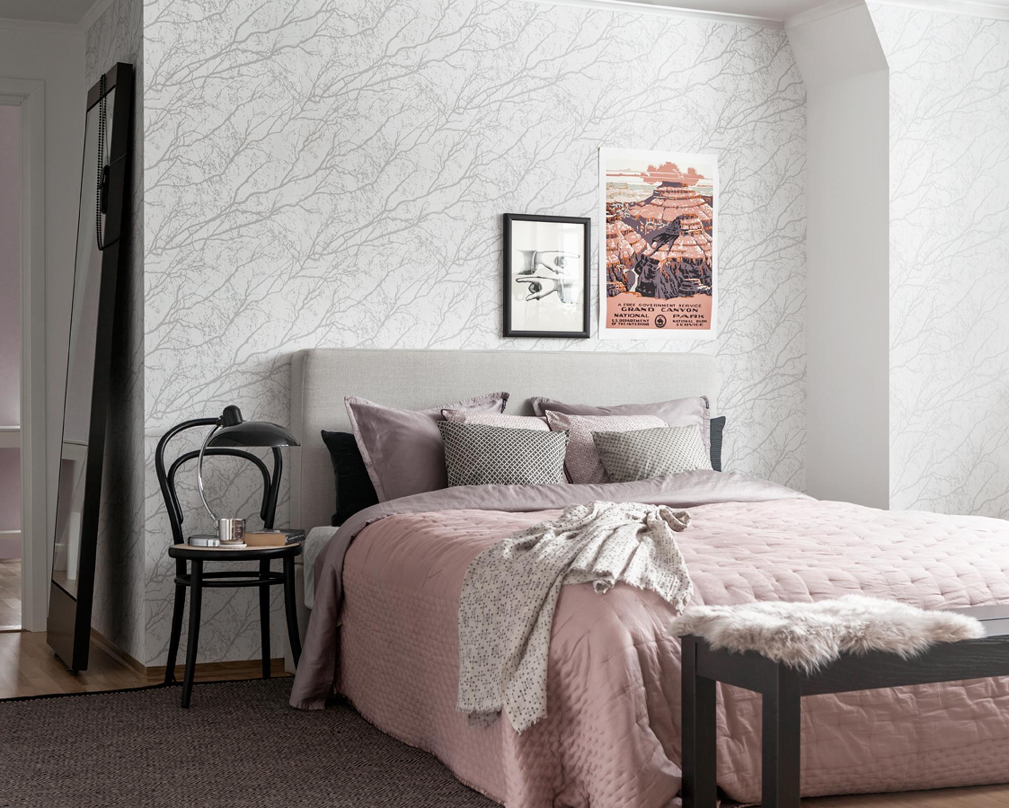 schlafzimmer wandgestaltung • bilder  ideen • couch
