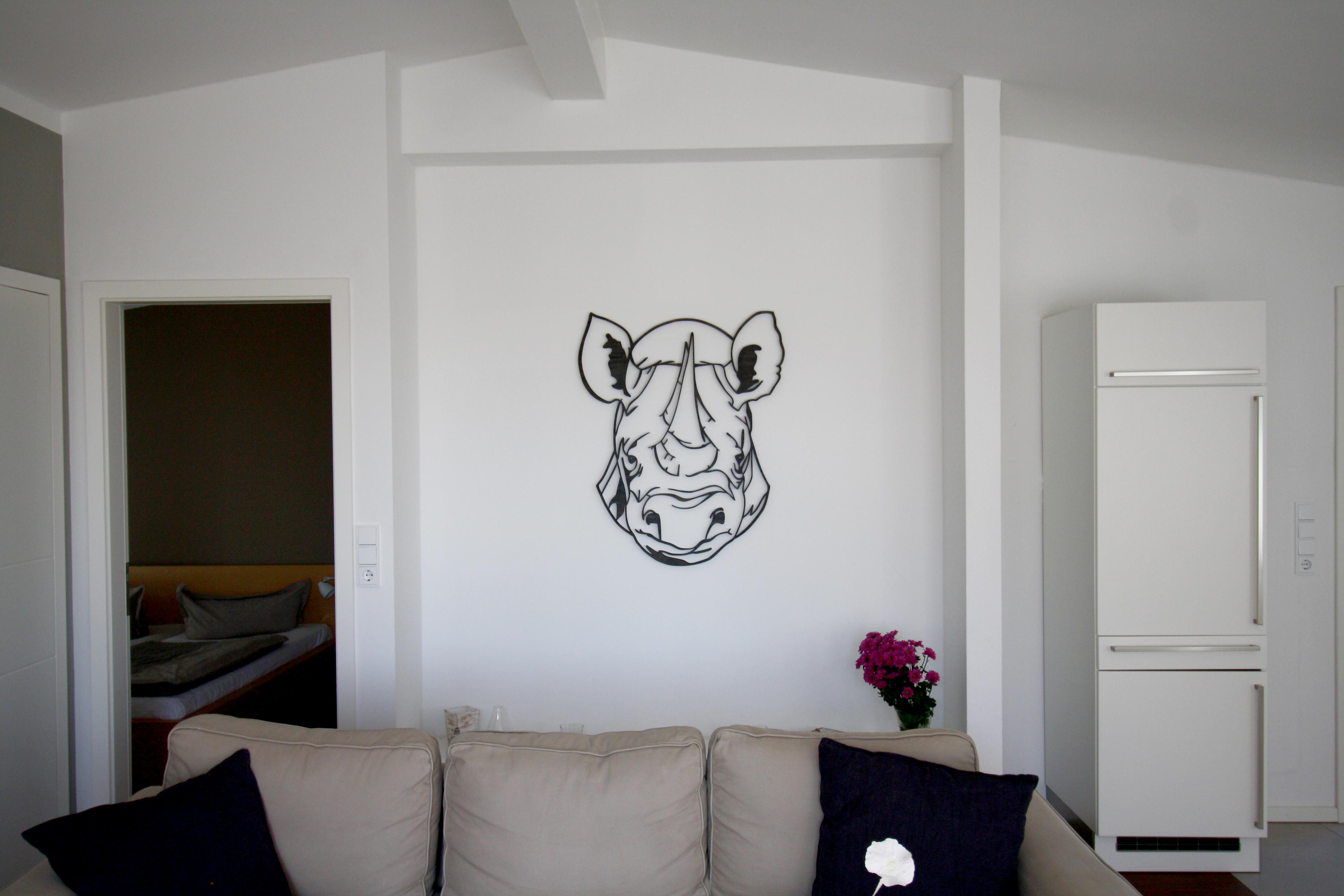 Wandholz im wohn esszimmer wanddeko david malecki - Esszimmer wanddeko ...