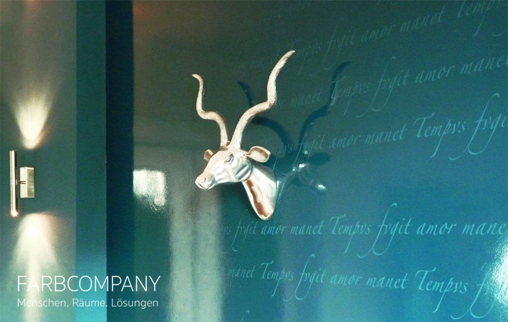 Wandtattoos, Wandgestaltung Mit Schrift Und Motiven #wandfarbe #wandtattoo # Petrol #raumdesign #