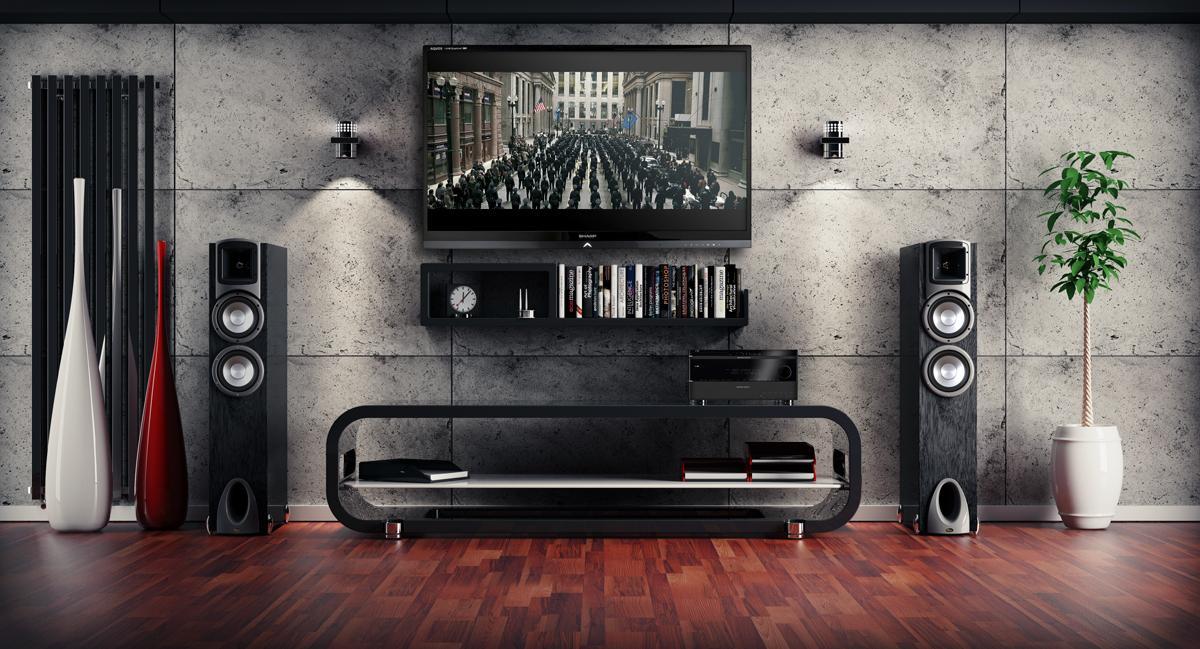 wandverkleidung in betonoptik bilder ideen couch. Black Bedroom Furniture Sets. Home Design Ideas