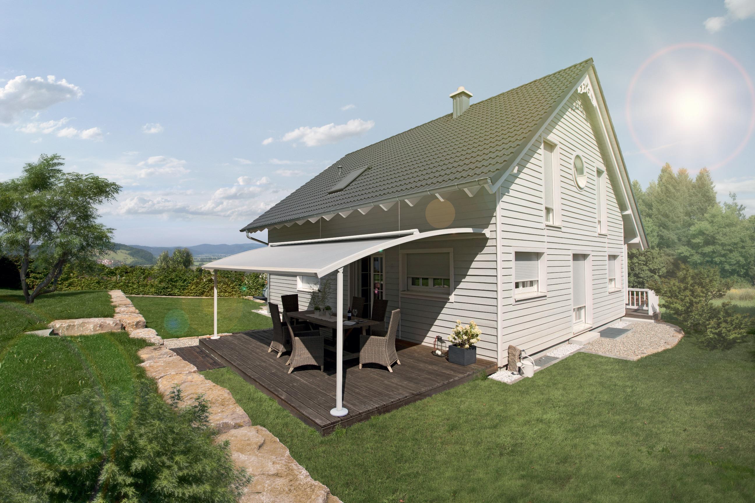 warema pergola markise zur verschattung der terrasse. Black Bedroom Furniture Sets. Home Design Ideas