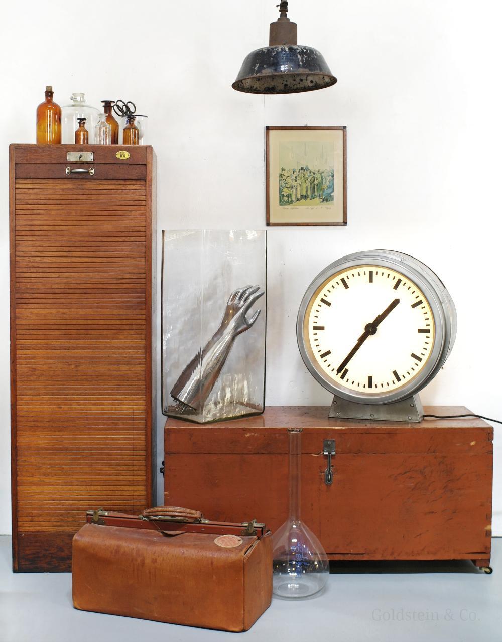 Warme Brauntöne Vintage Bodenvase Industriedesign