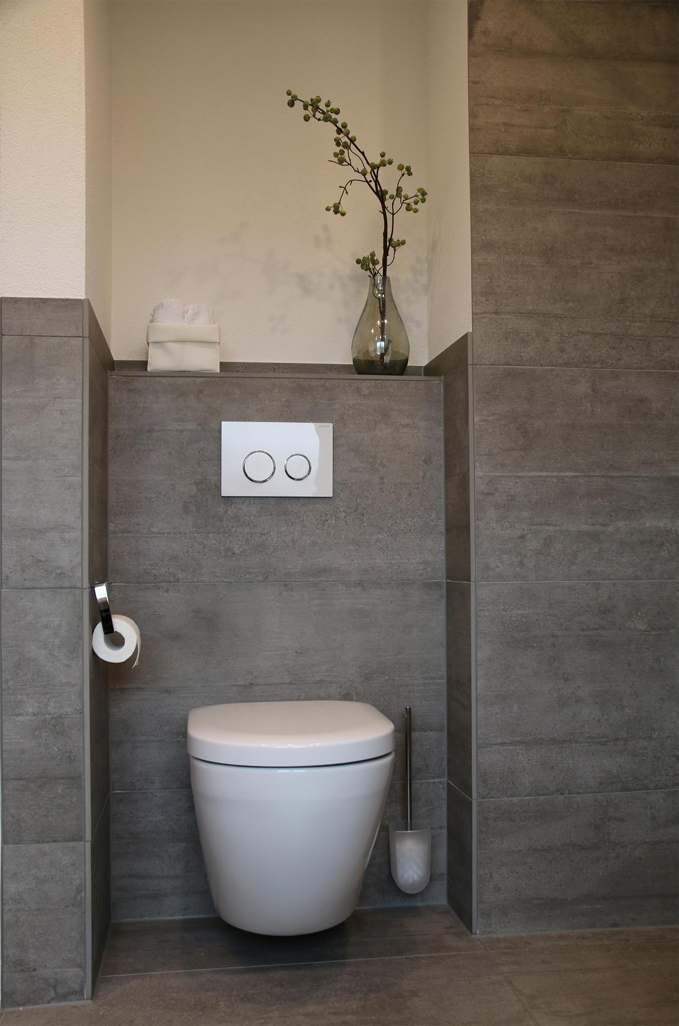 WC Nische #modernesbadezimmer #vormauerung ©HEIMWOHL GmbH