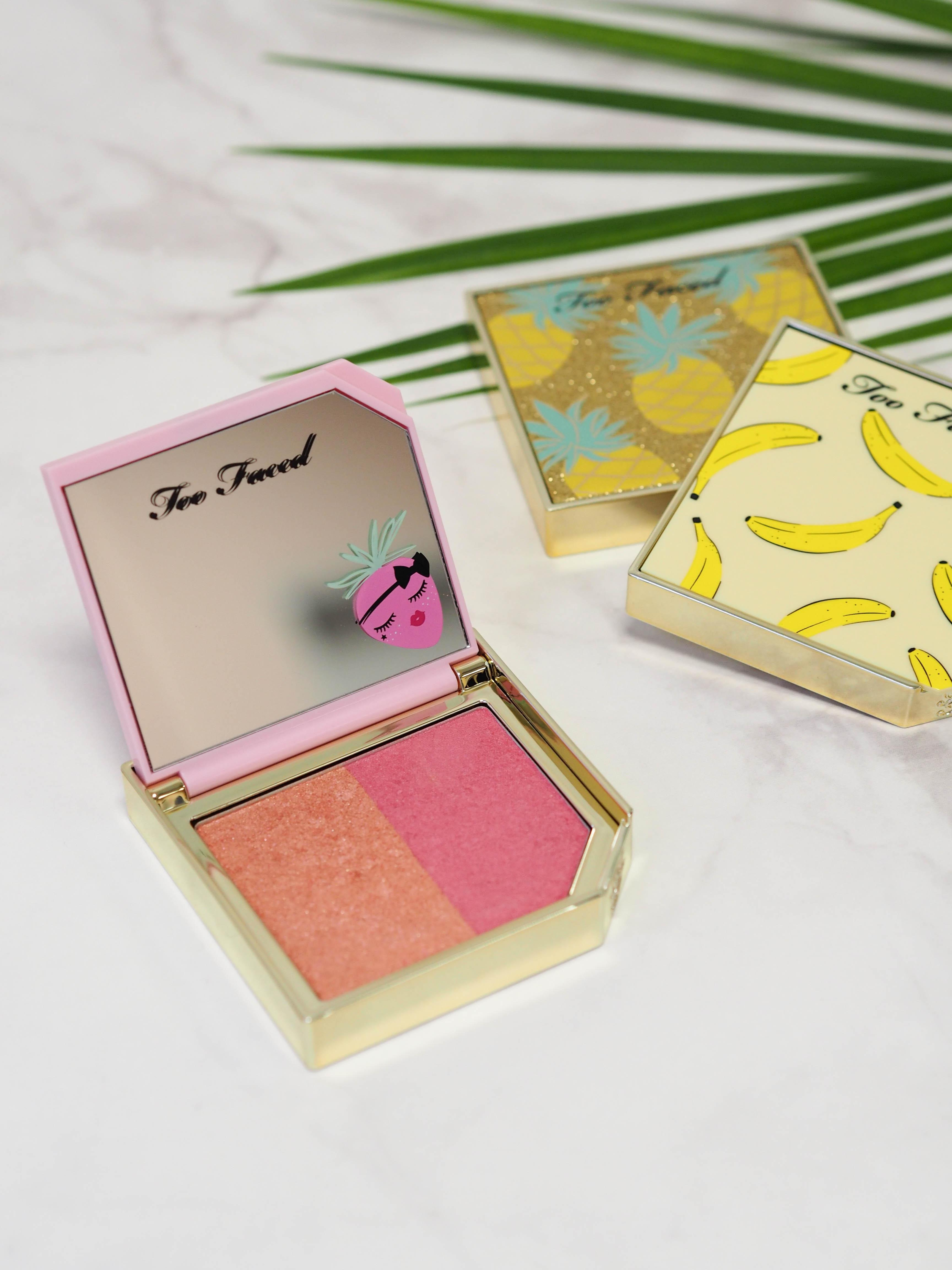 We go bananas! Puder, Rouge und Highlighter von Too Faced duften fruchtig #beautylieblinge #toofaced