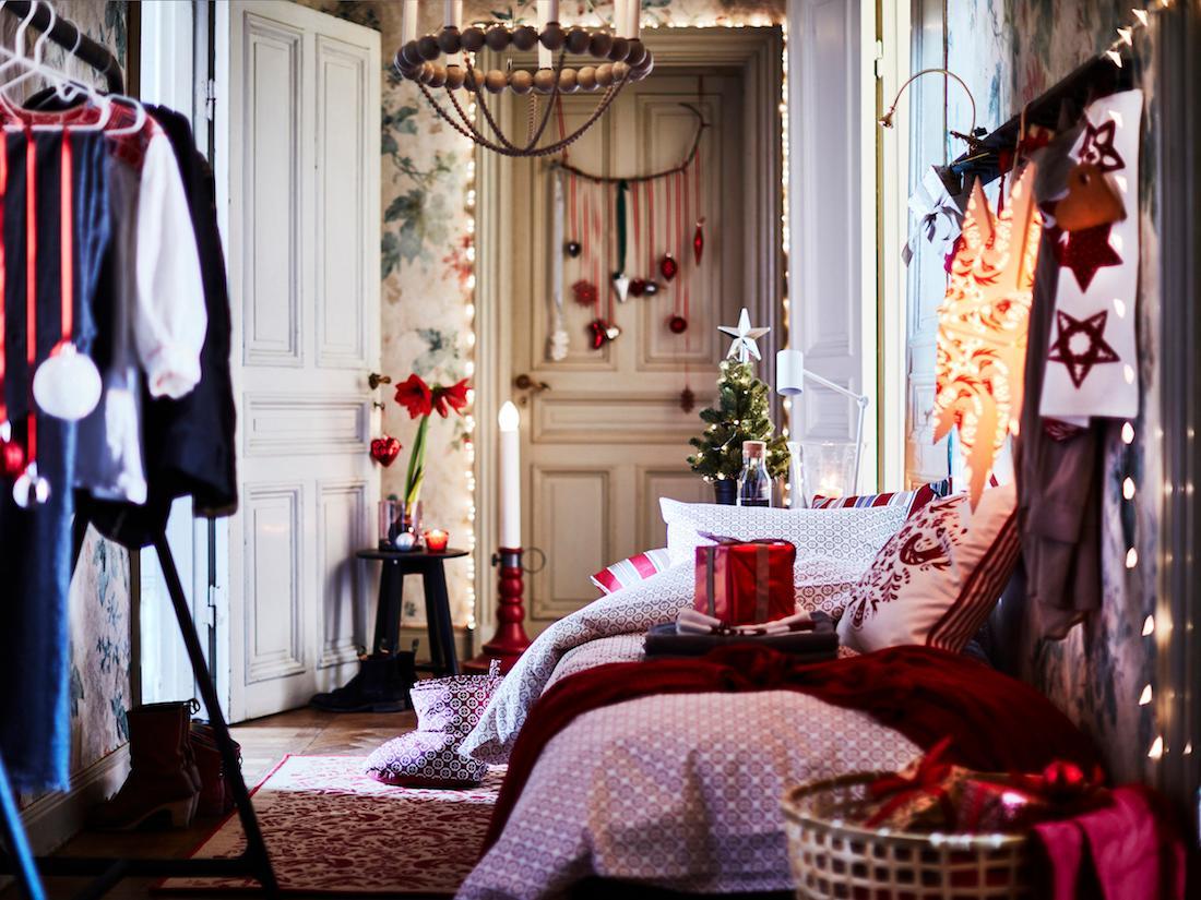 Weihnachtsdeko Ikea weihnachtlich dekorierter flur ikea weihnachtsdeko
