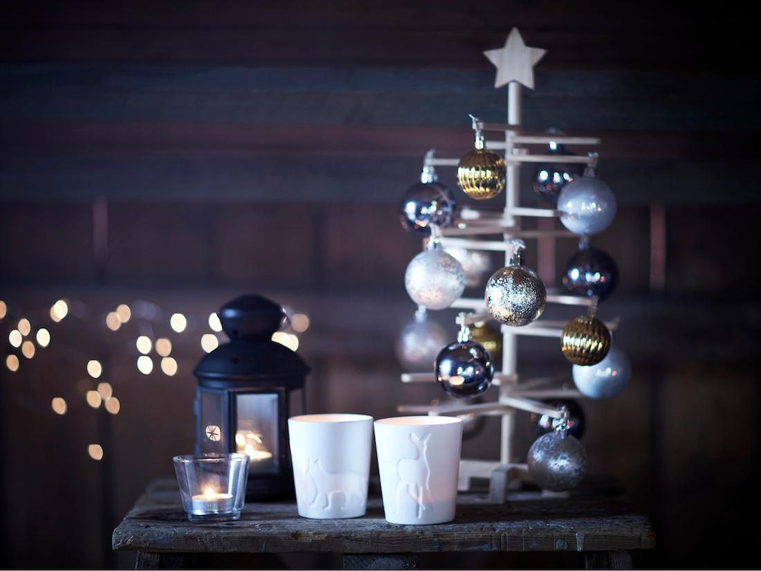 Weihnachtsdeko Ikea weihnachtliche kerzenhalter windlicht weihnachtsde